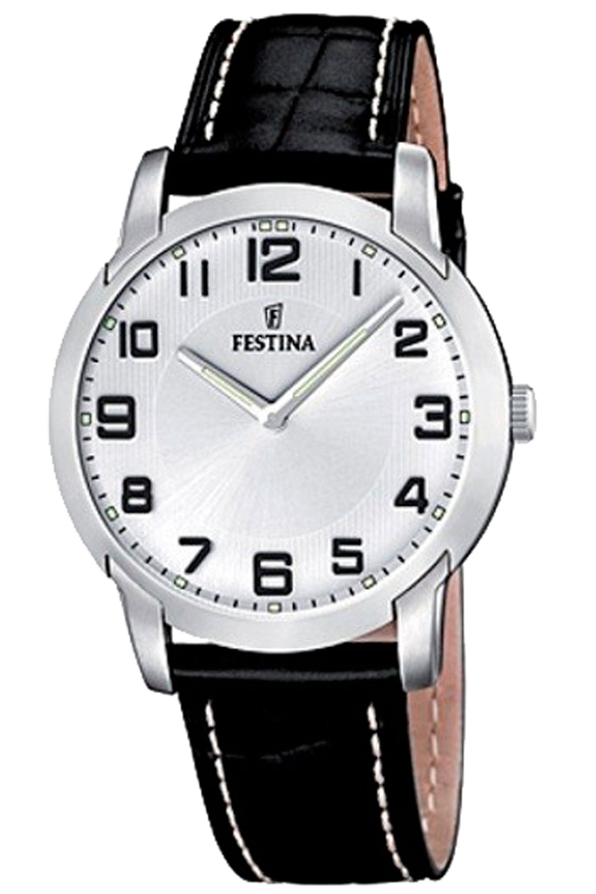 Image of Festina Watch for Men, Black, Leather, 2017