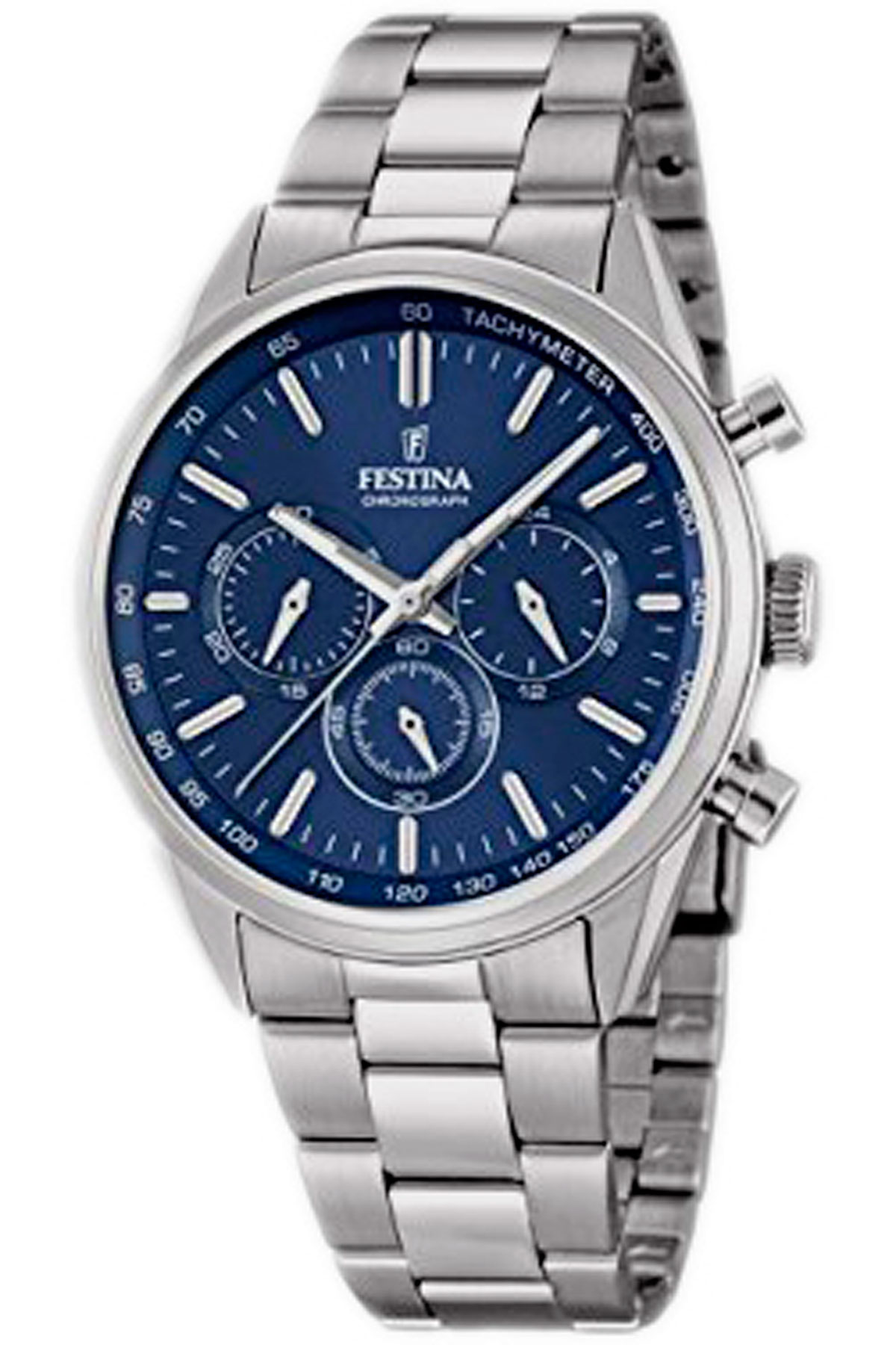 Festina Watch for Men, Blue, Stainless Steel, 2019