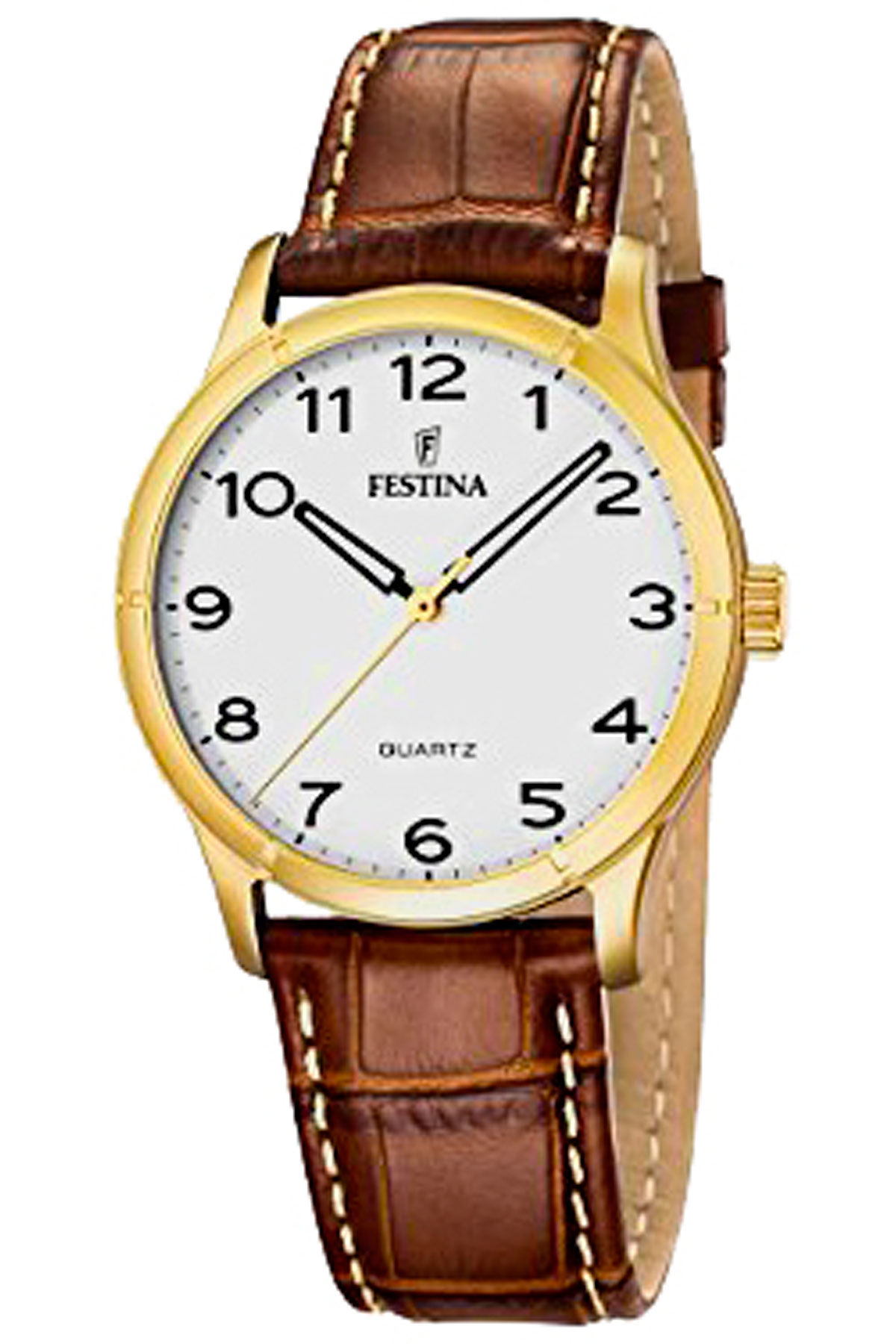 Festina Watch for Men, Brown, Leather, 2019