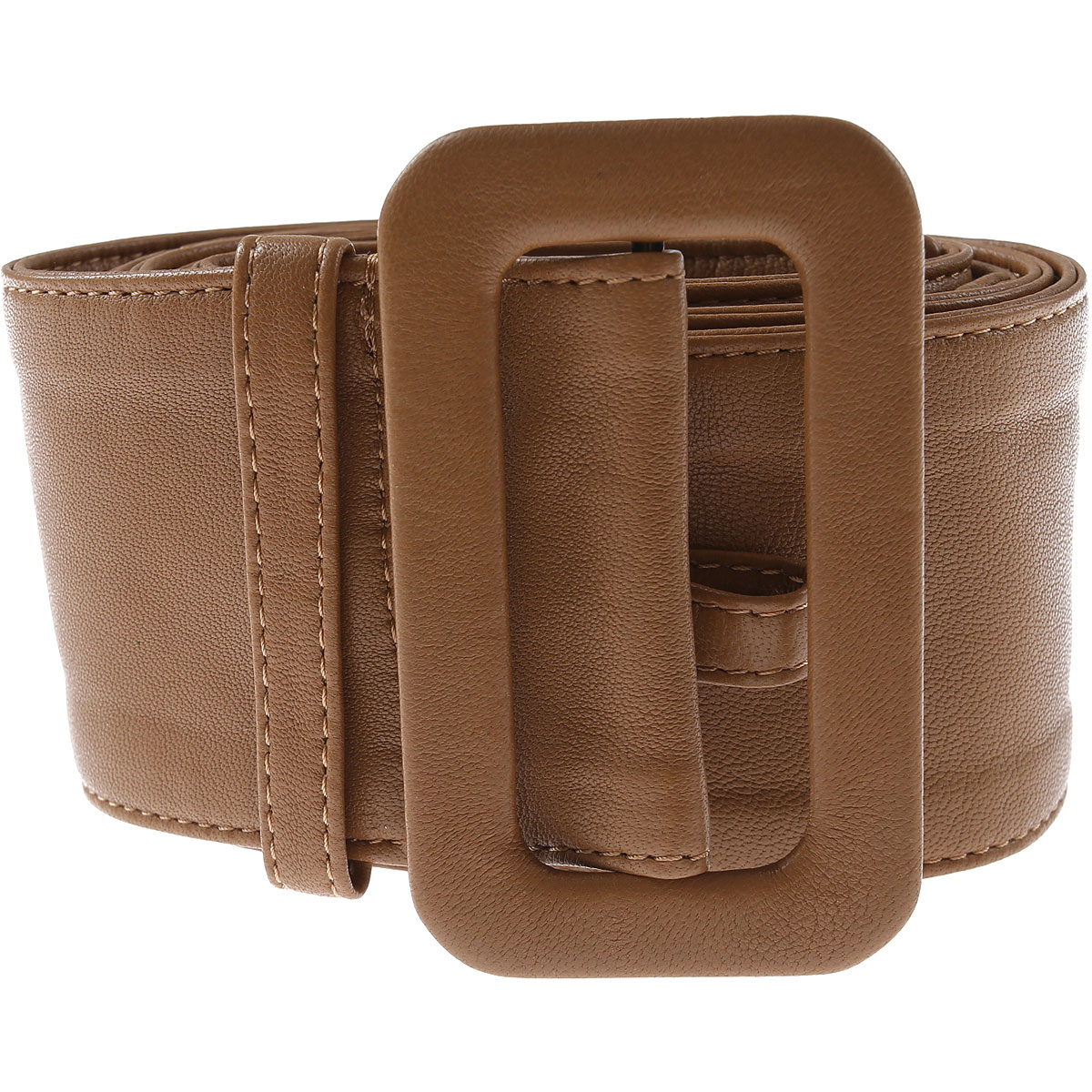 Federica Tosi Belt for Women On Sale, Camel, Leather, 2019