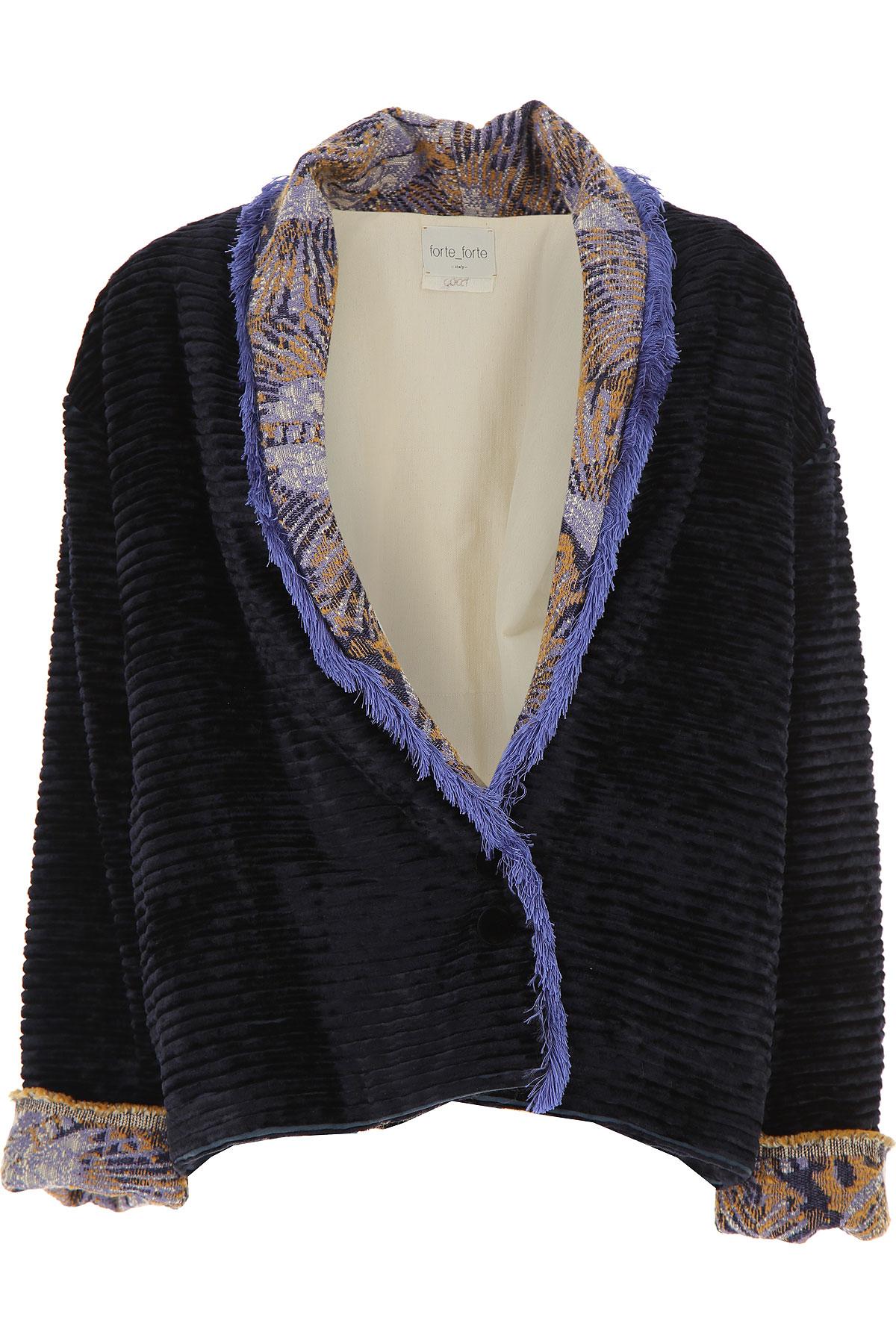 Forte Forte Jacket for Women On Sale, Midnight Blue, Viscose, 2019, 1 - S - IT 40 2 - M - IT 42
