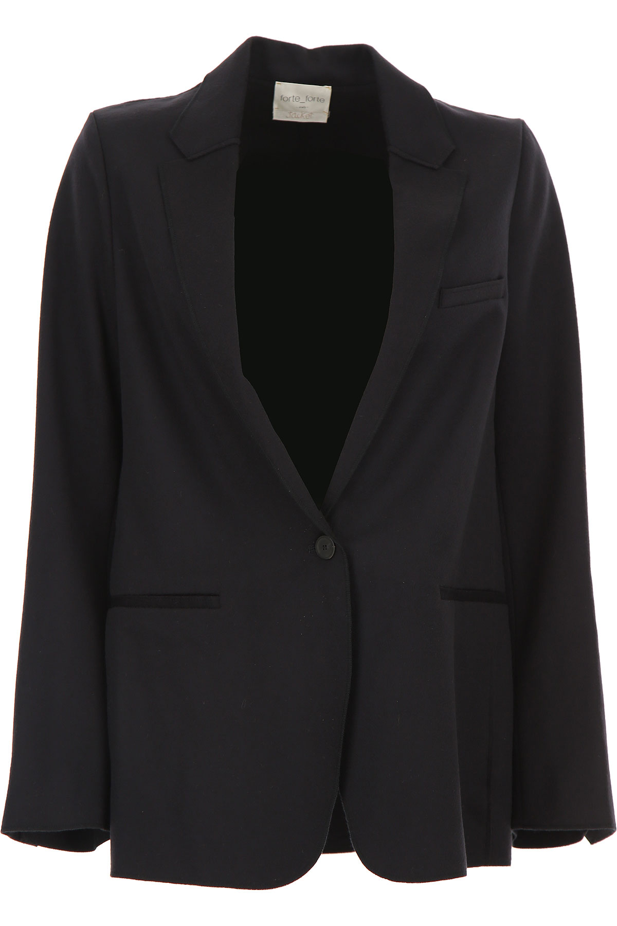 Forte Forte Blazer for Women On Sale, Dark Midnight Blue, Virgin wool, 2019, 2 - M - IT 42 3 - L - IT 44