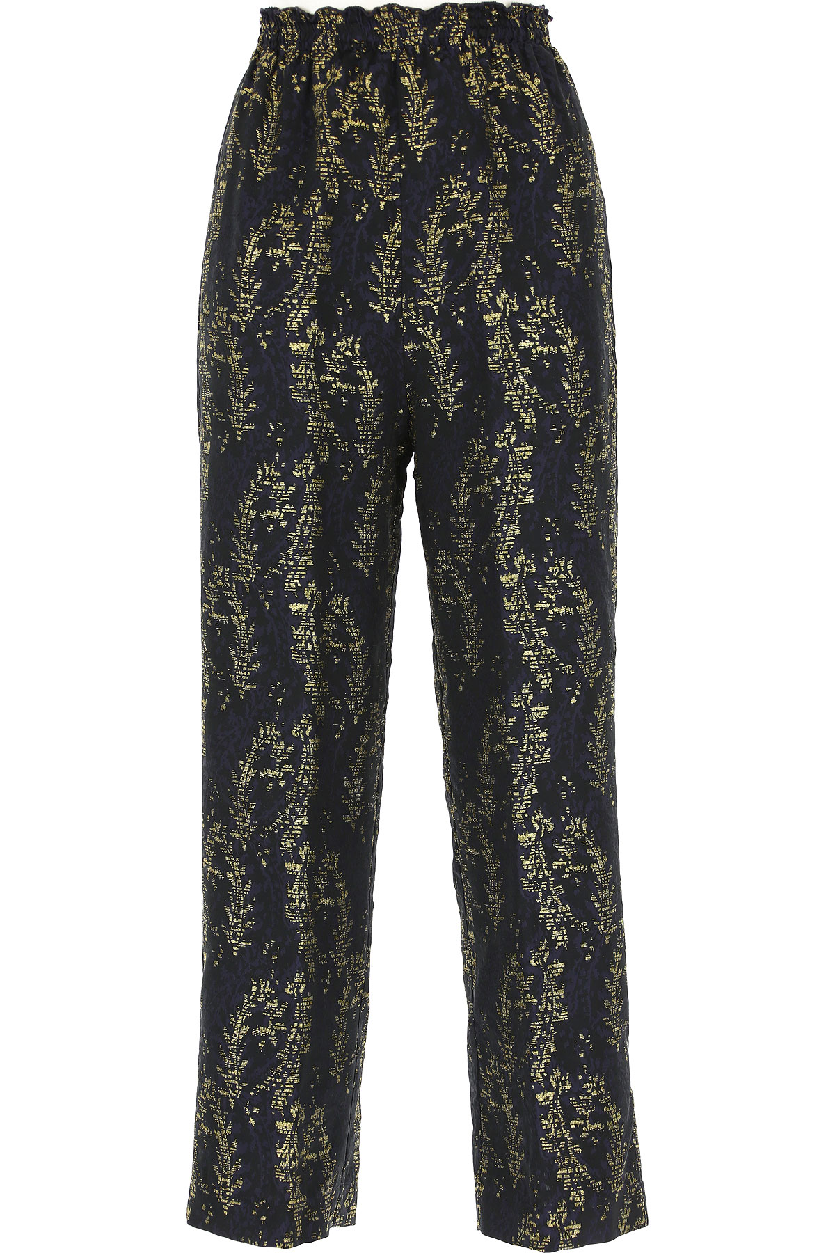 Forte Forte Pants for Women On Sale, Midnight Blue, polyester, 2019, 00 - XXS - IT 36
