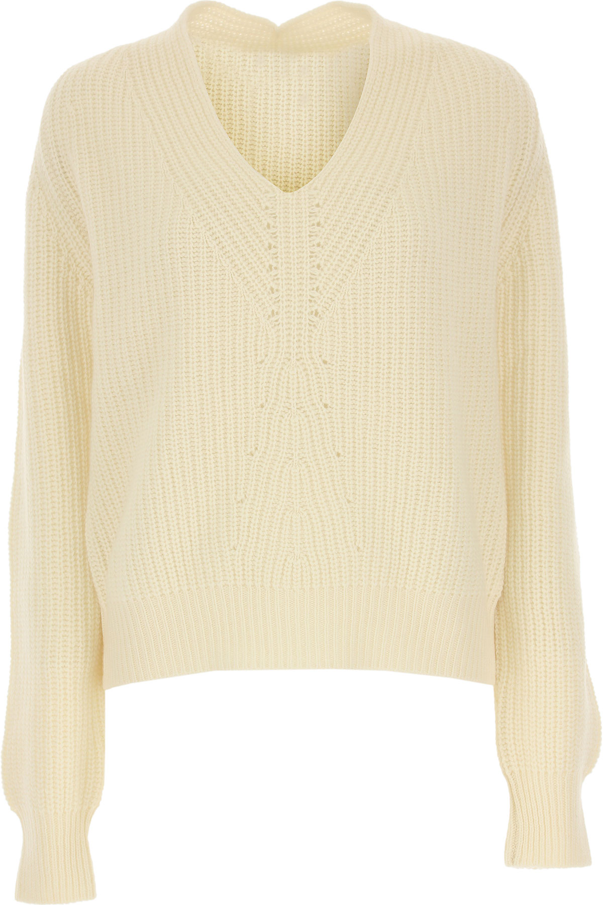 Forte Forte Sweater for Women Jumper On Sale, Ivory, Cashmere, 2019, 1 - S - IT 40 2 - M - IT 42