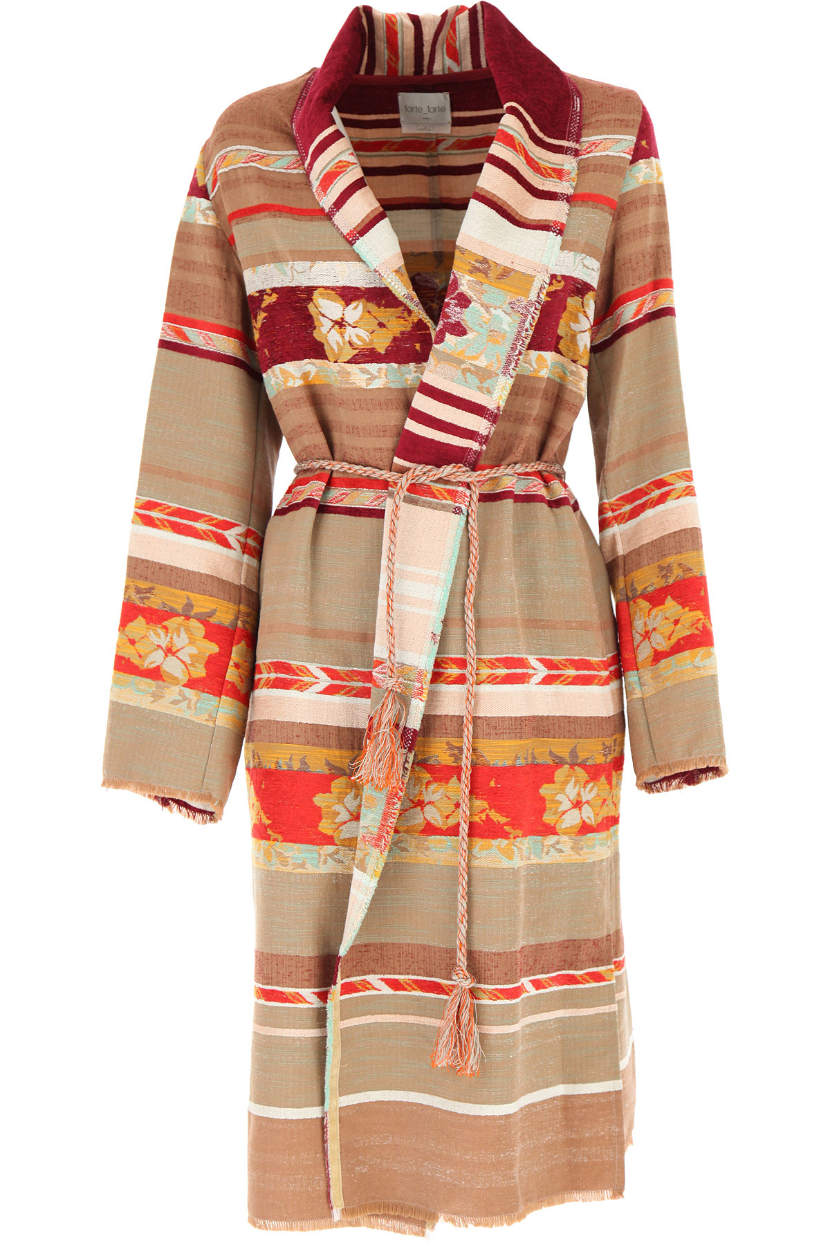 Forte Forte Women's Coat On Sale, Multicolor, Viscose, 2019, 1 - S - IT 40 2 - M - IT 42