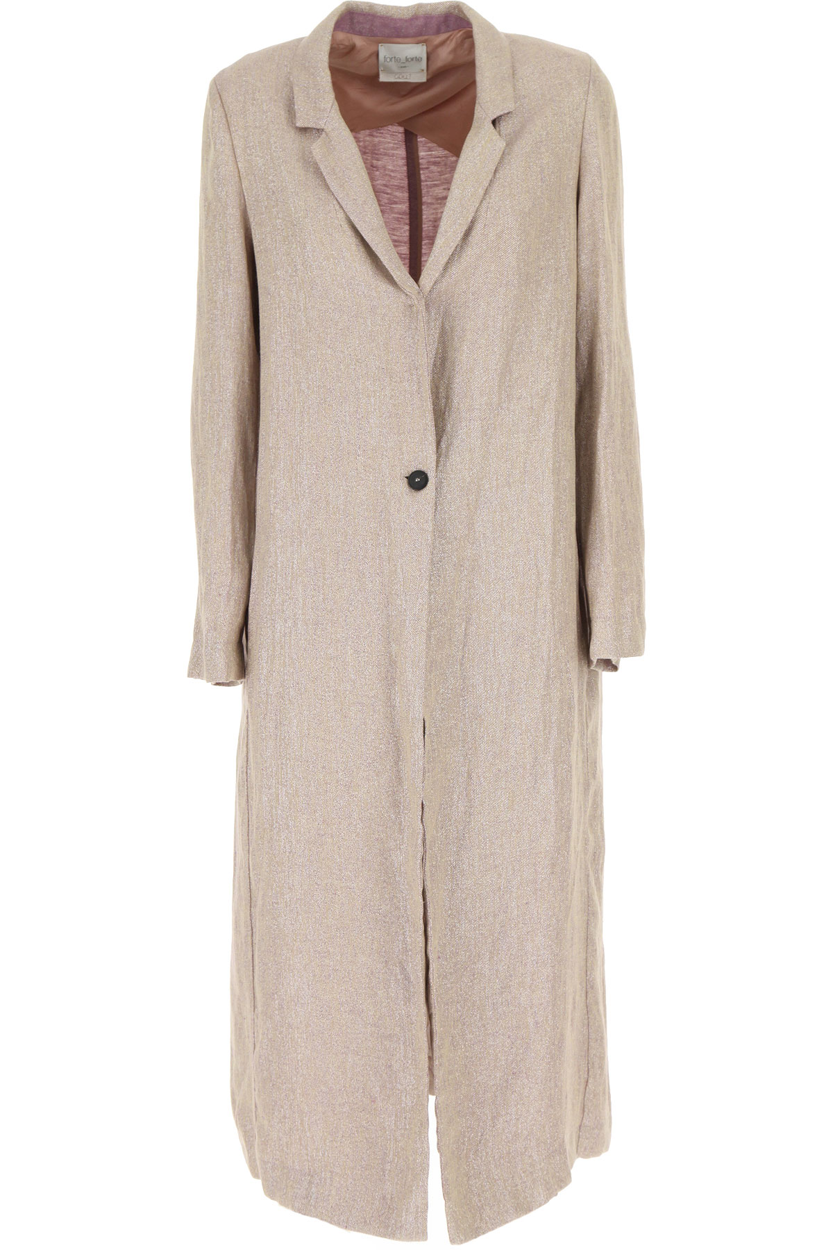 Forte Forte Women's Coat On Sale, Sunrise, linen, 2019, 1 - S - IT 40 2 - M - IT 42
