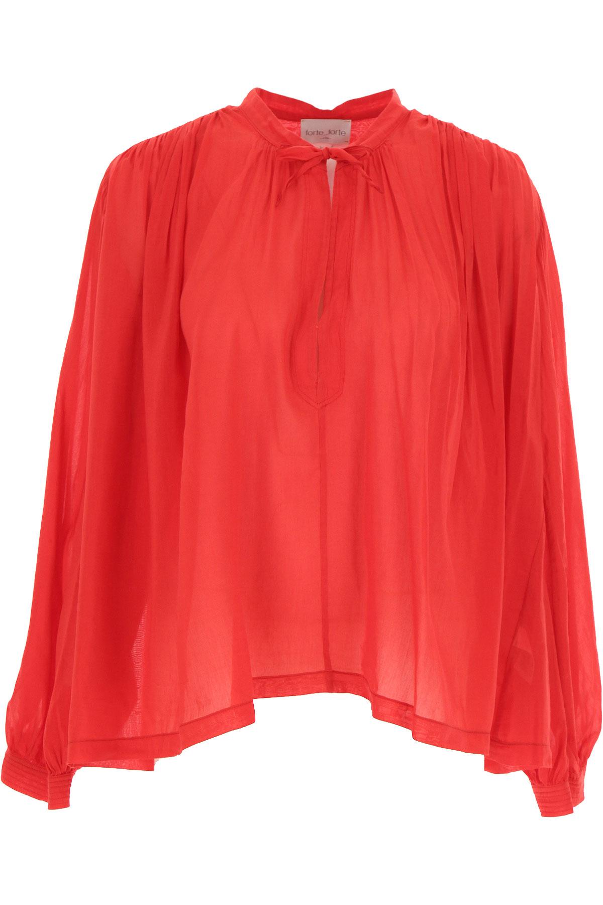 Forte Forte Top for Women On Sale, Fire Red, Cotton, 2019, 0 - XS - IT 38 1 - S - IT 40