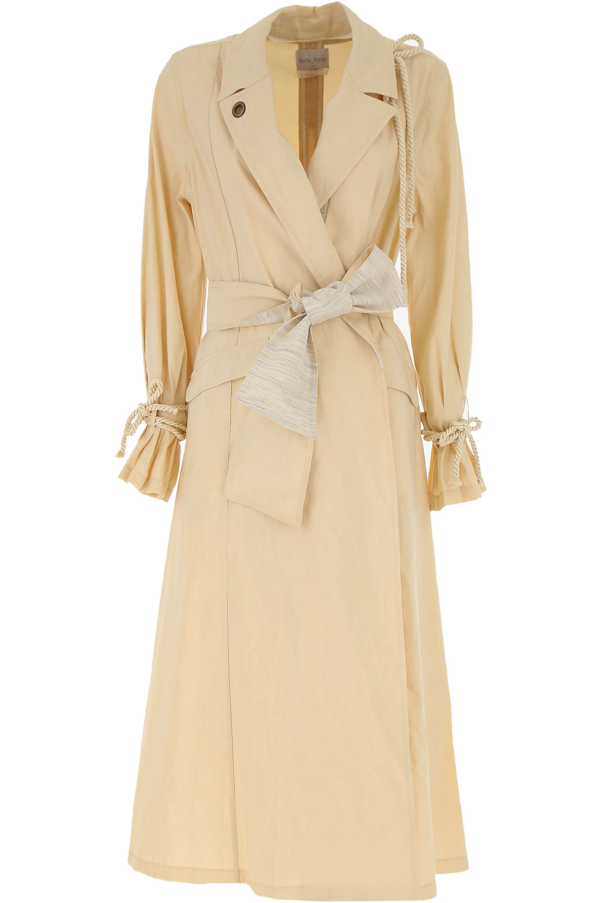 Forte Forte Women's Coat On Sale, Beige, Cotton, 2019