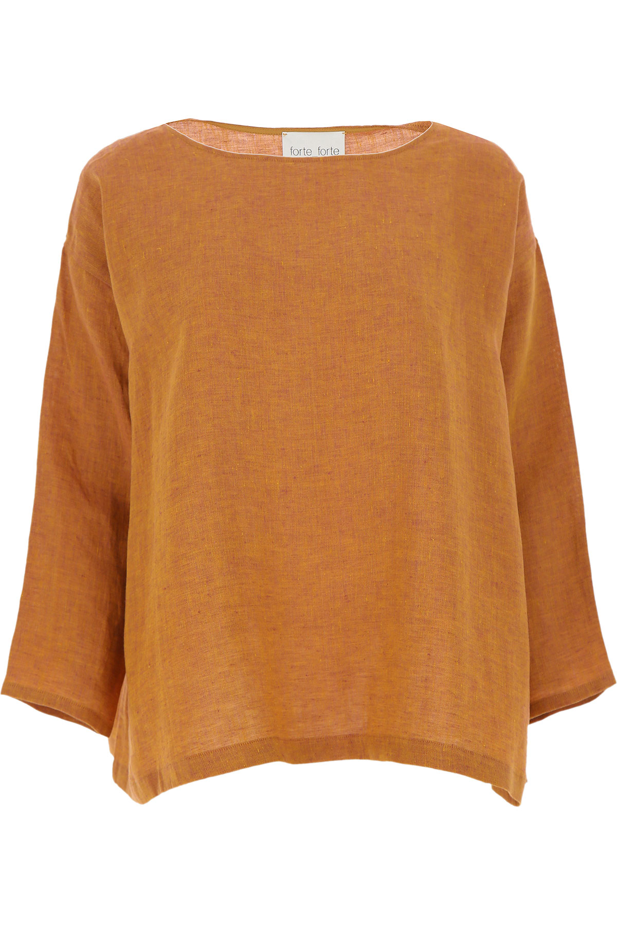 Forte Forte Top for Women On Sale, Cinnamon, linen, 2019, 1 - S - IT 40 2 - M - IT 42