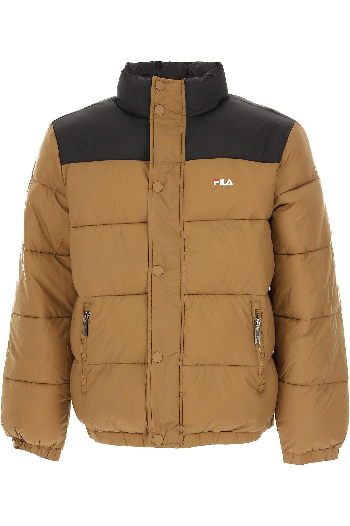 Image of Fila Down Jacket for Men, Puffer Ski Jacket, Camel, polyester, 2017, L M S XL