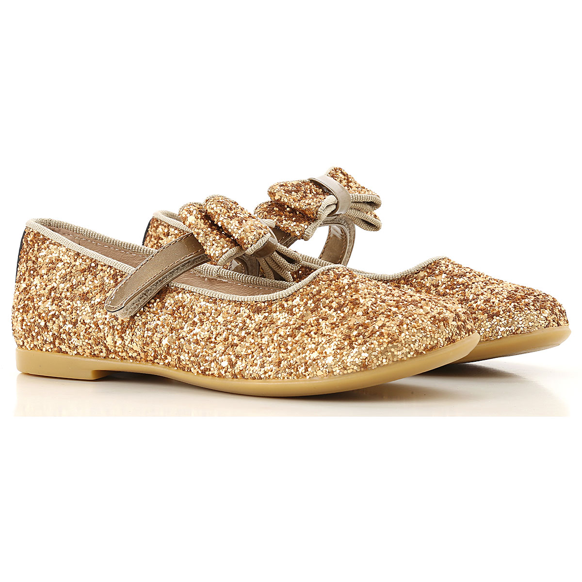 Image of Florens Kids Shoes for Girls, Gold, polyurethane, 2017, 20 21 22 23 24 25 26 27 28 29