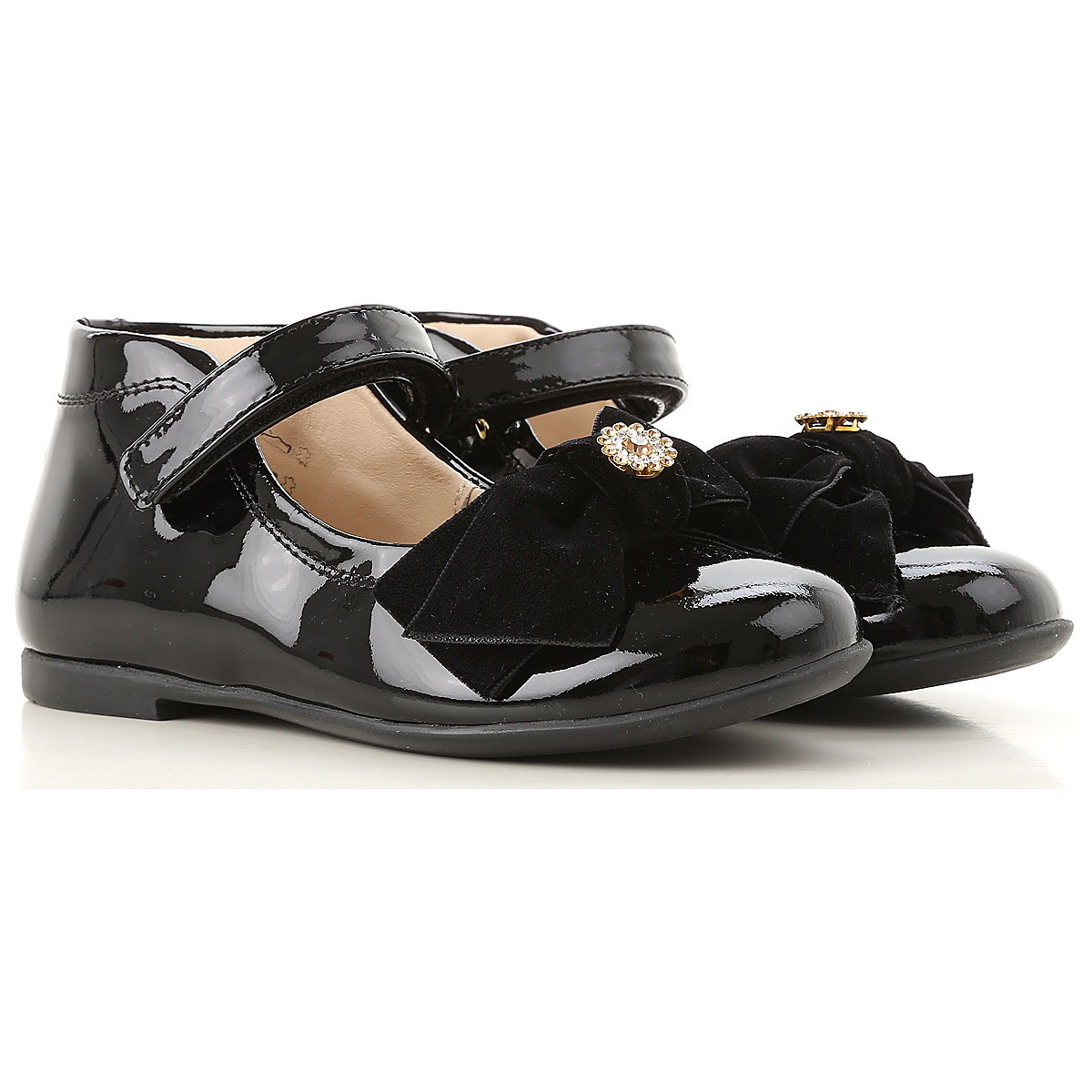 Image of Florens Kids Shoes for Girls, Black, Leather, 2017, 20 21 22 23 24 25 26 27 28