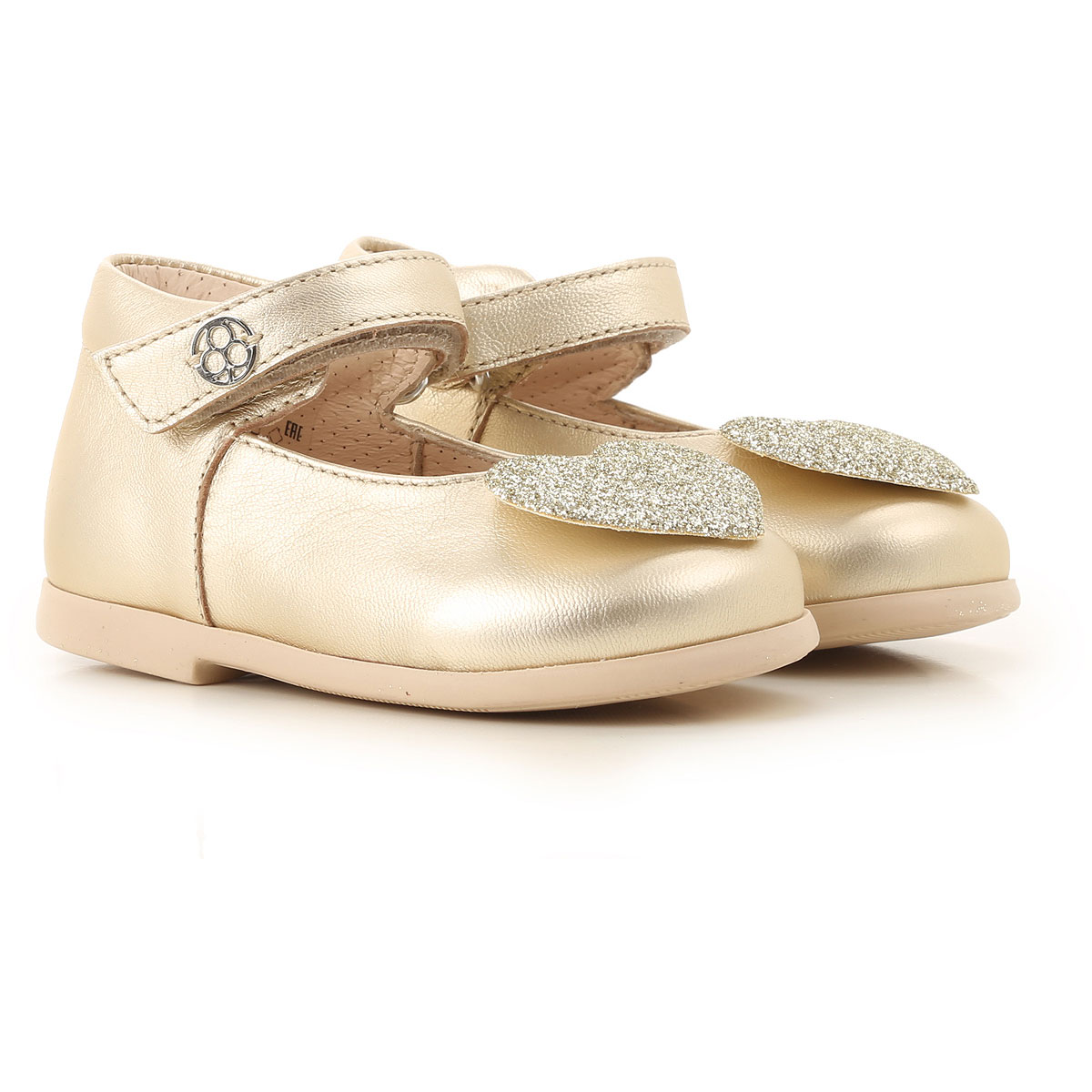 Florens Kids Shoes for Girls On Sale, Gold, Leather, 2019, 18 19 20 21 22 23 24