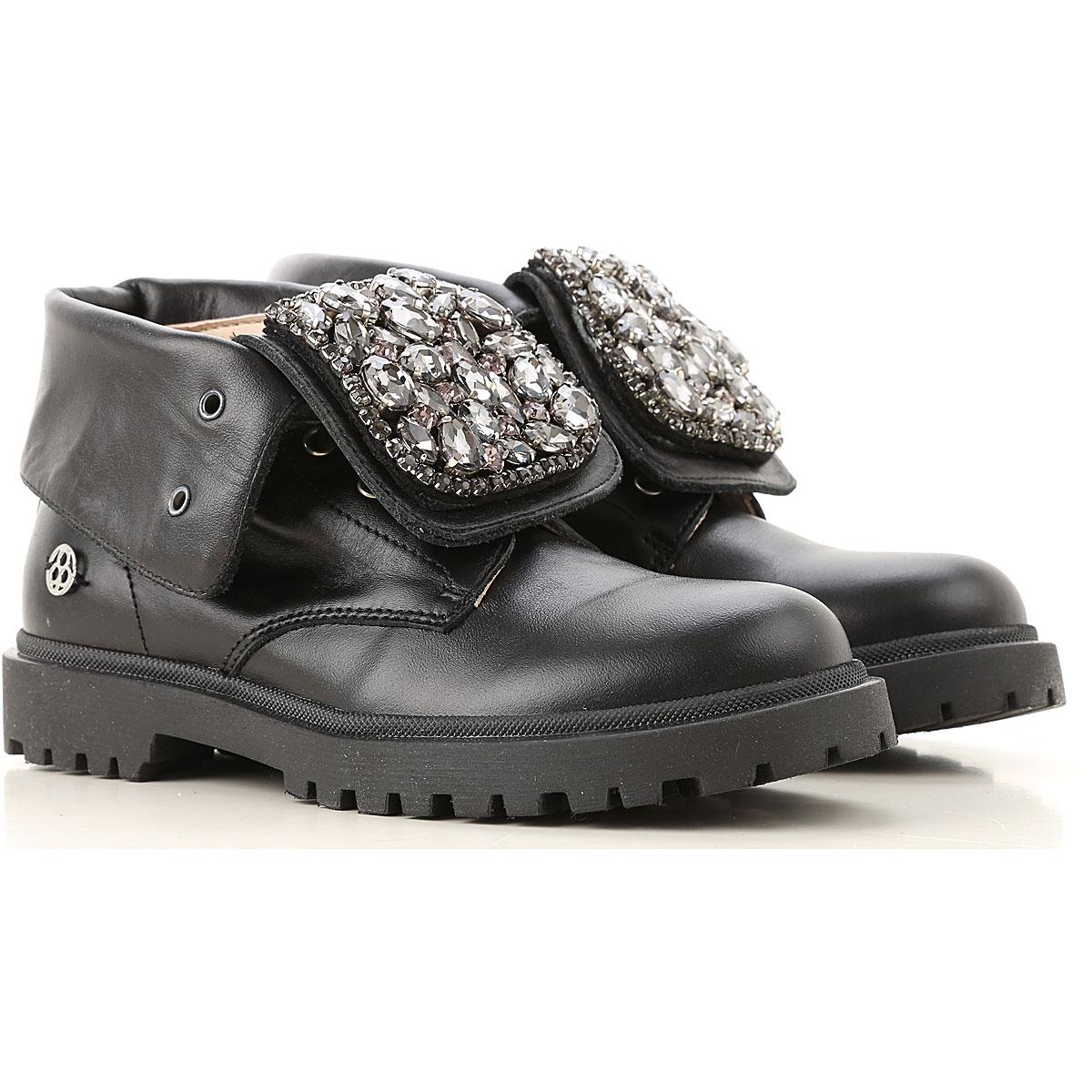 Florens Kids Shoes for Girls On Sale, Calf Black, Rubber, 2019, 20 21 22 23 24 25 26 27 28 29