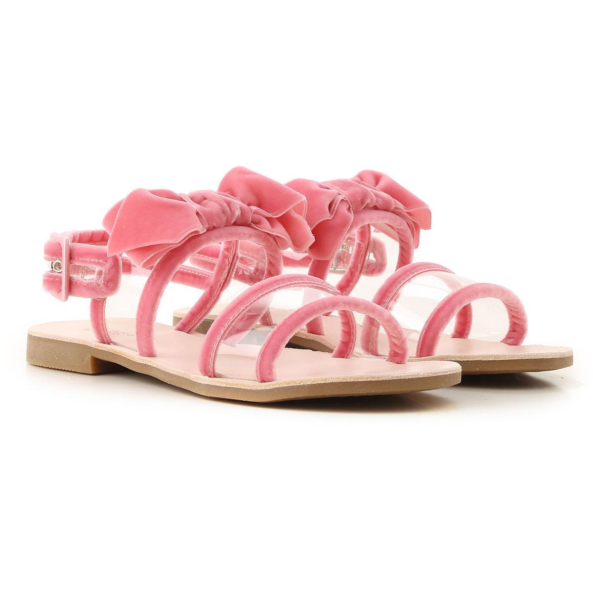 Florens Kids Shoes for Girls On Sale, Pink, Velvet, 2019, 28 30 33 34 38