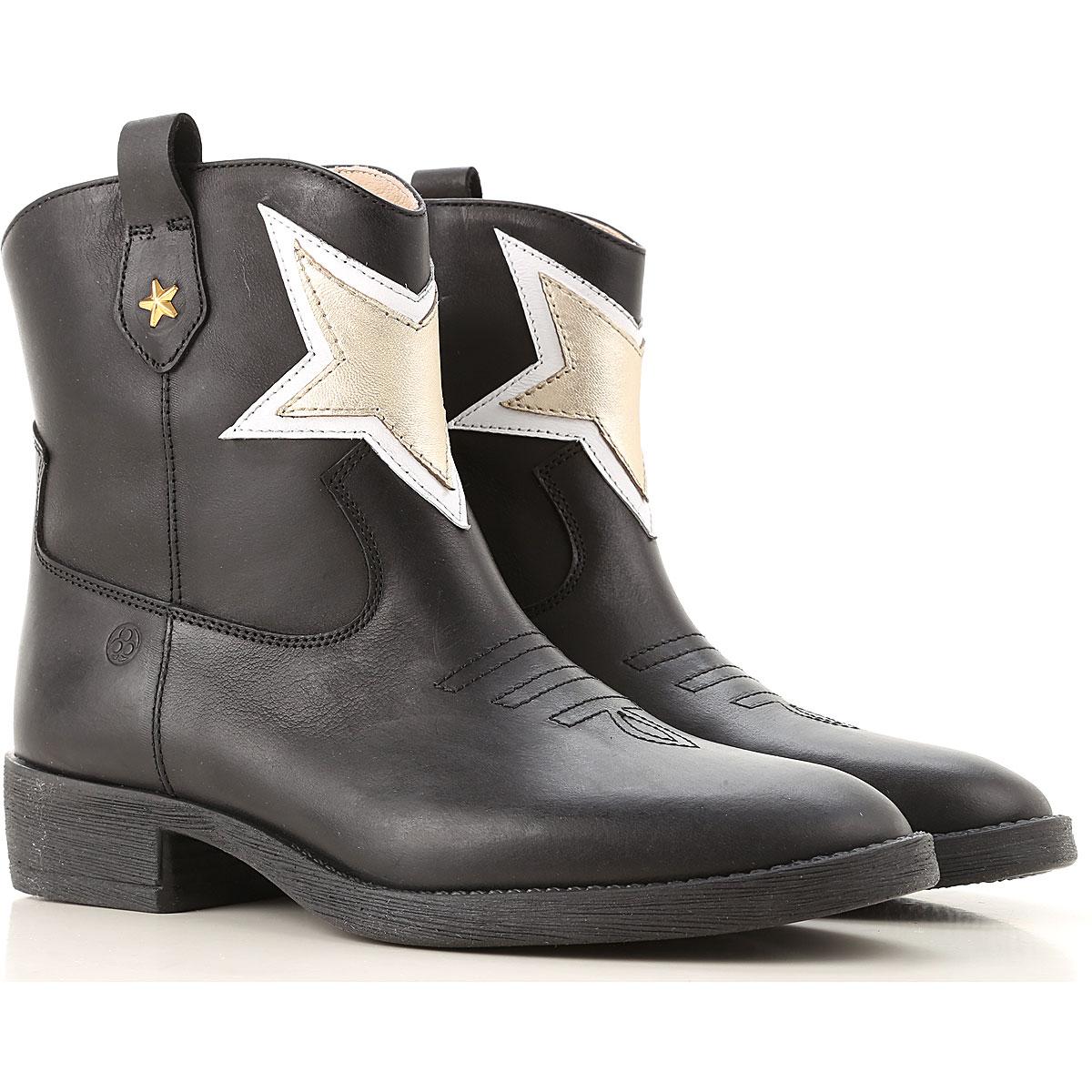Florens Kids Shoes for Girls On Sale, Black, Rubber, 2019, 31 32 33 34 35 36 37 38
