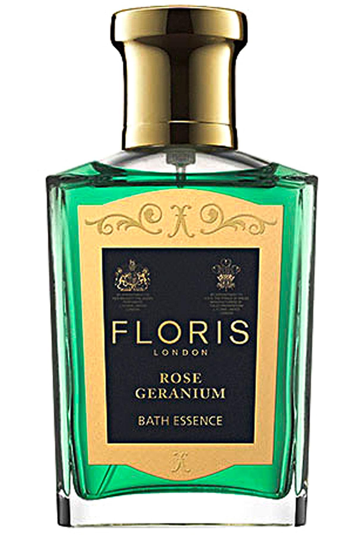 Floris London Beauty for Women On Sale, Rose Geranium - Bath Essence - 50 Ml, 2019, 50 ml