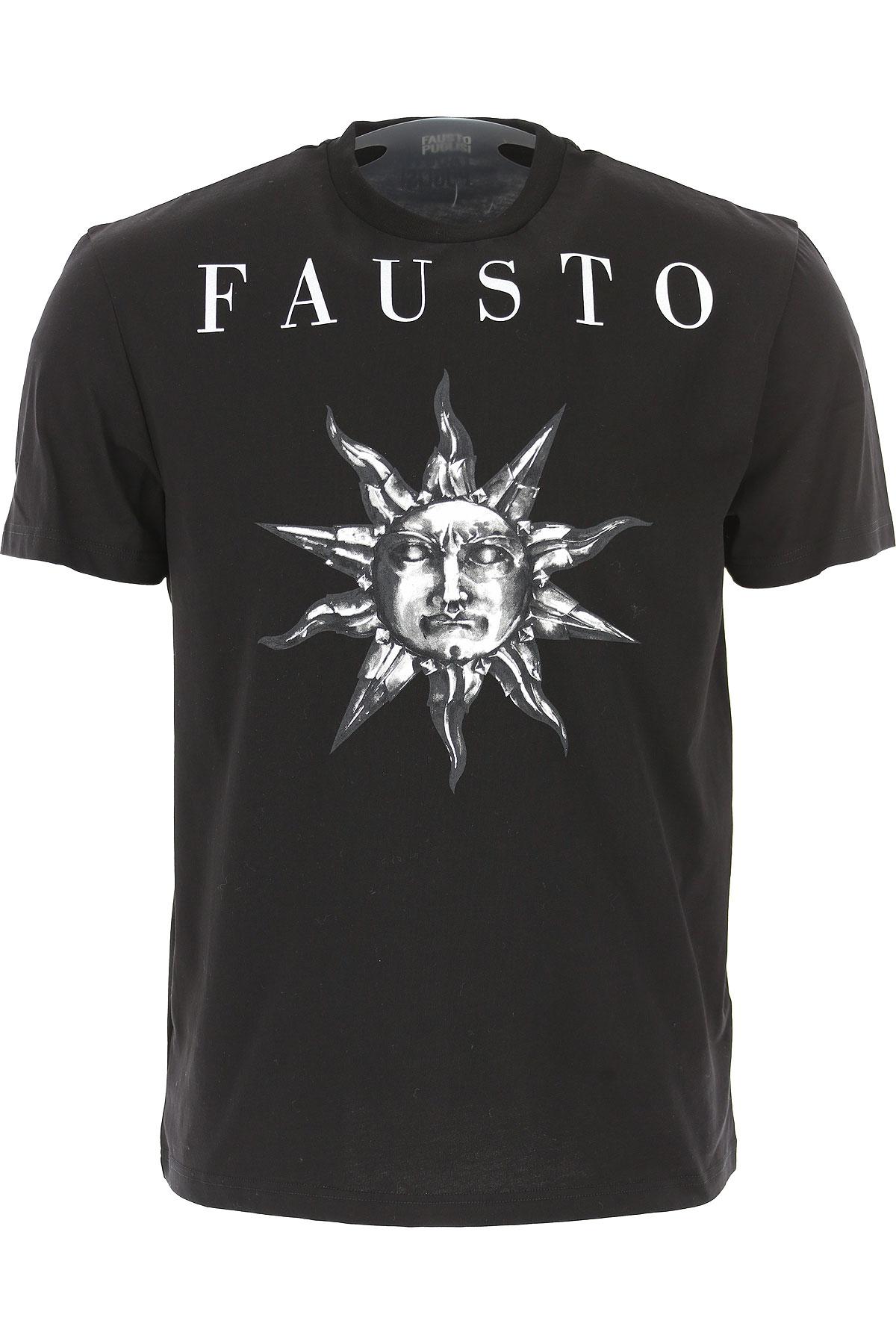 Image of Fausto Puglisi T-Shirt for Men, Black, Cotton, 2017, L M XL