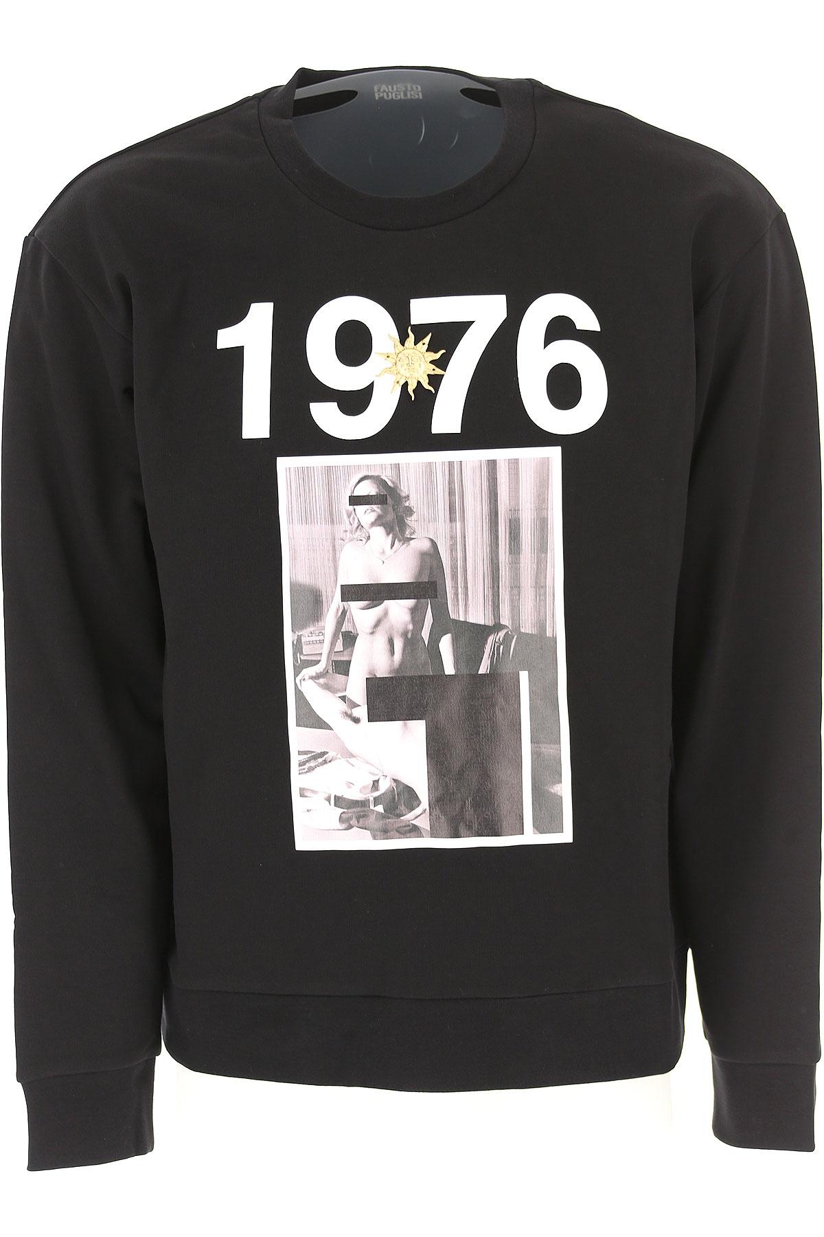 Image of Fausto Puglisi Sweatshirt for Men, Black, Cotton, 2017, L M XL