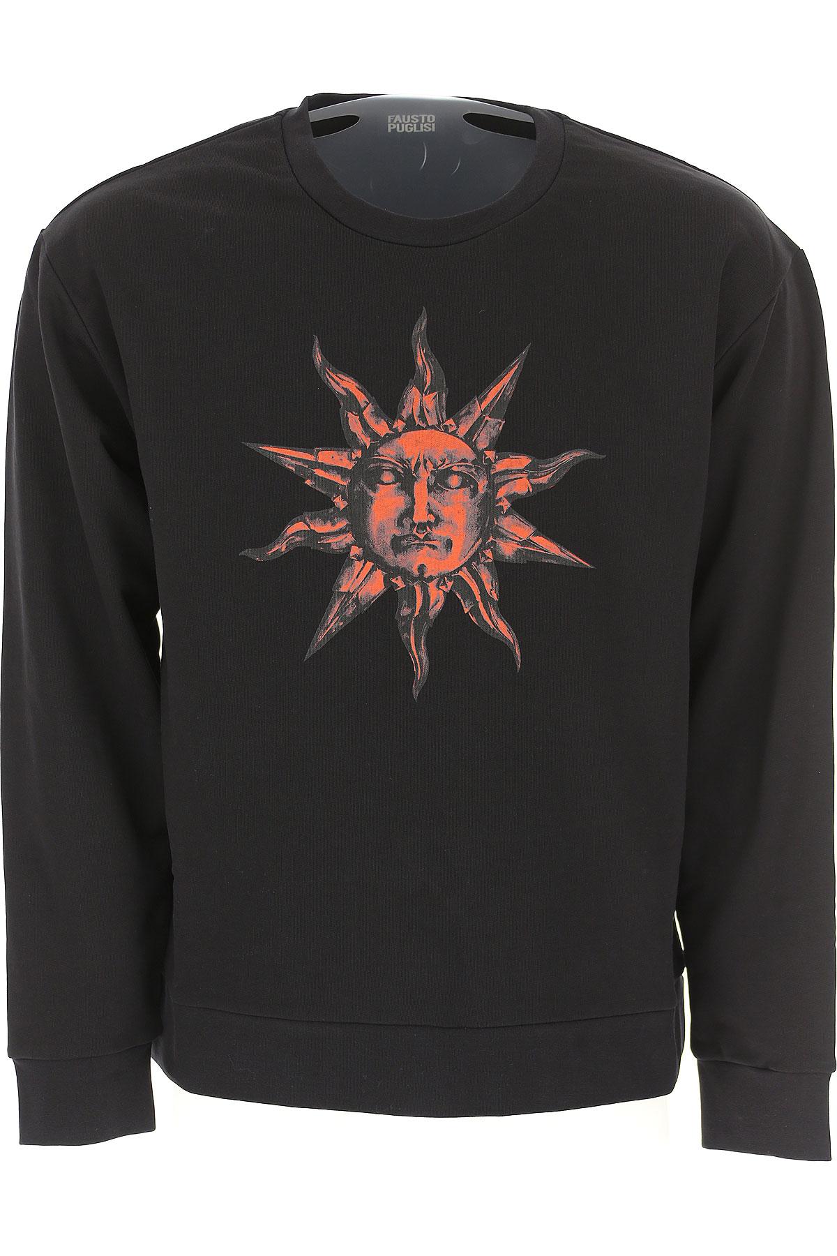 Image of Fausto Puglisi Sweatshirt for Men, Black, Cotton, 2017, L M S XL
