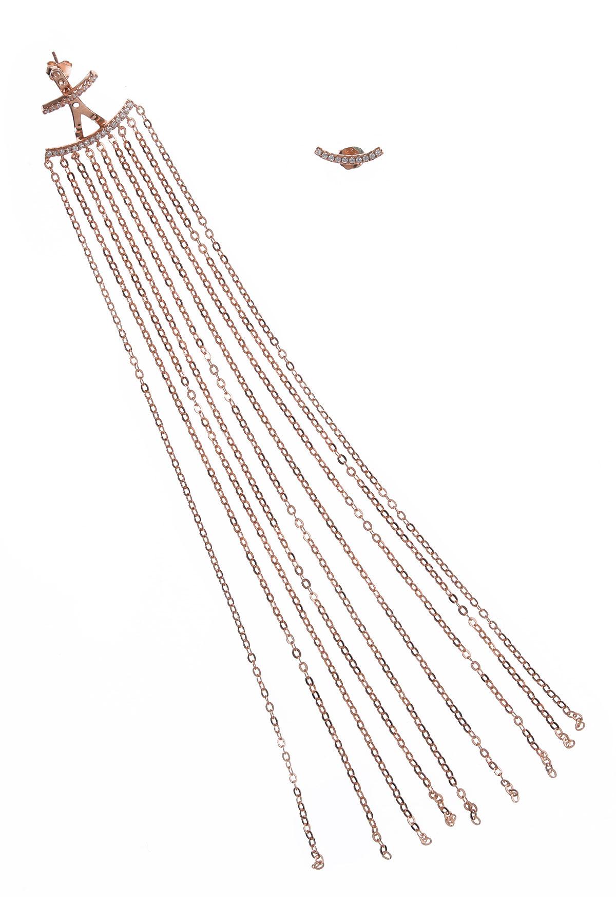 Francesca Angelone Earrings for Women On Sale, Golden Pink, Silver 925, 2019