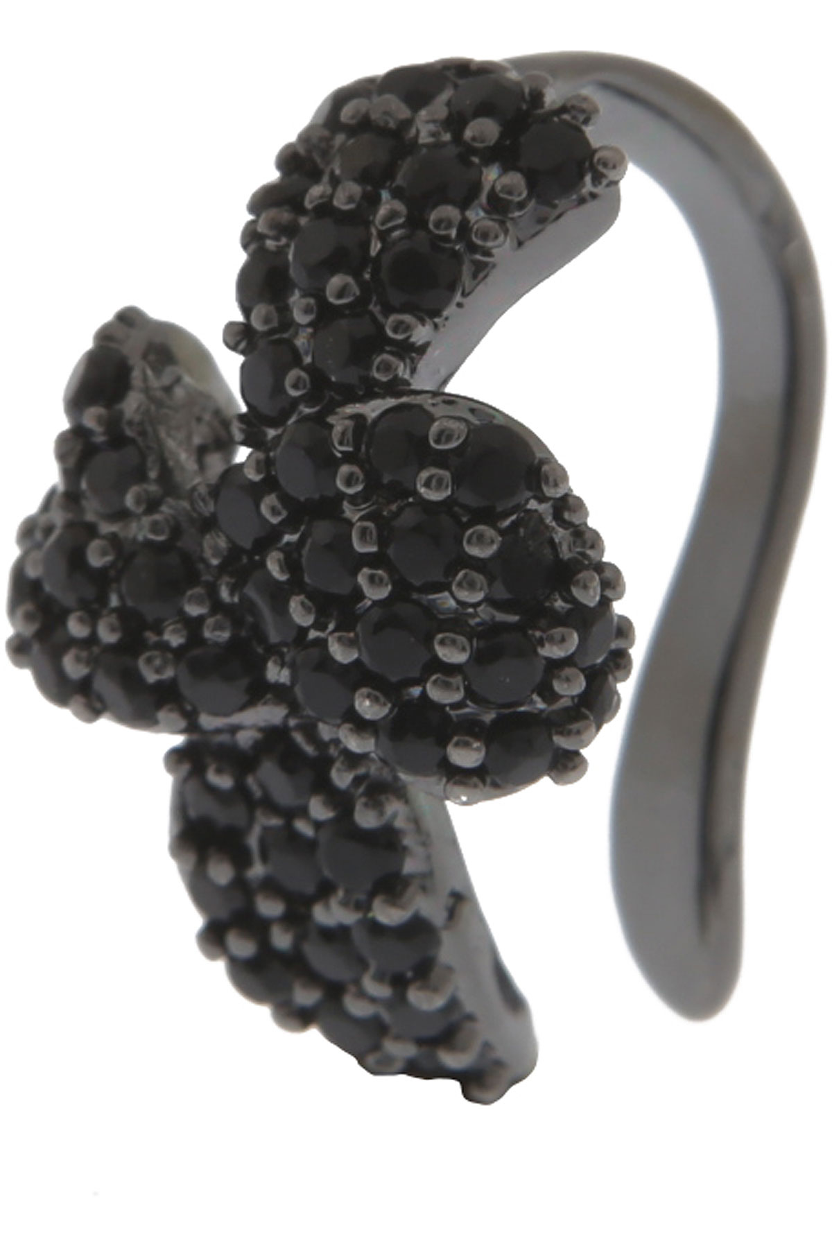 Francesca Angelone Earrings for Women On Sale, Black, Silver 925, 2019