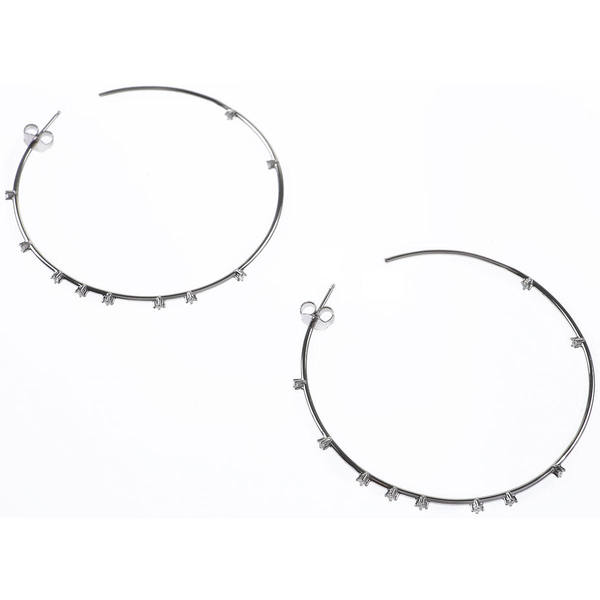 Francesca Angelone Earrings for Women, Silver, Silver 925, 2019