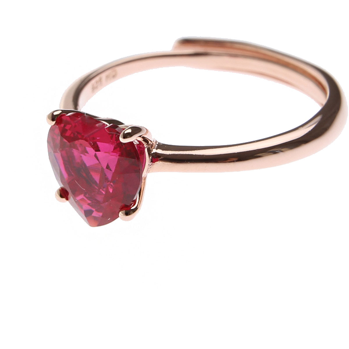 Francesca Angelone Ring for Women On Sale, Red, Silver 925, 2019