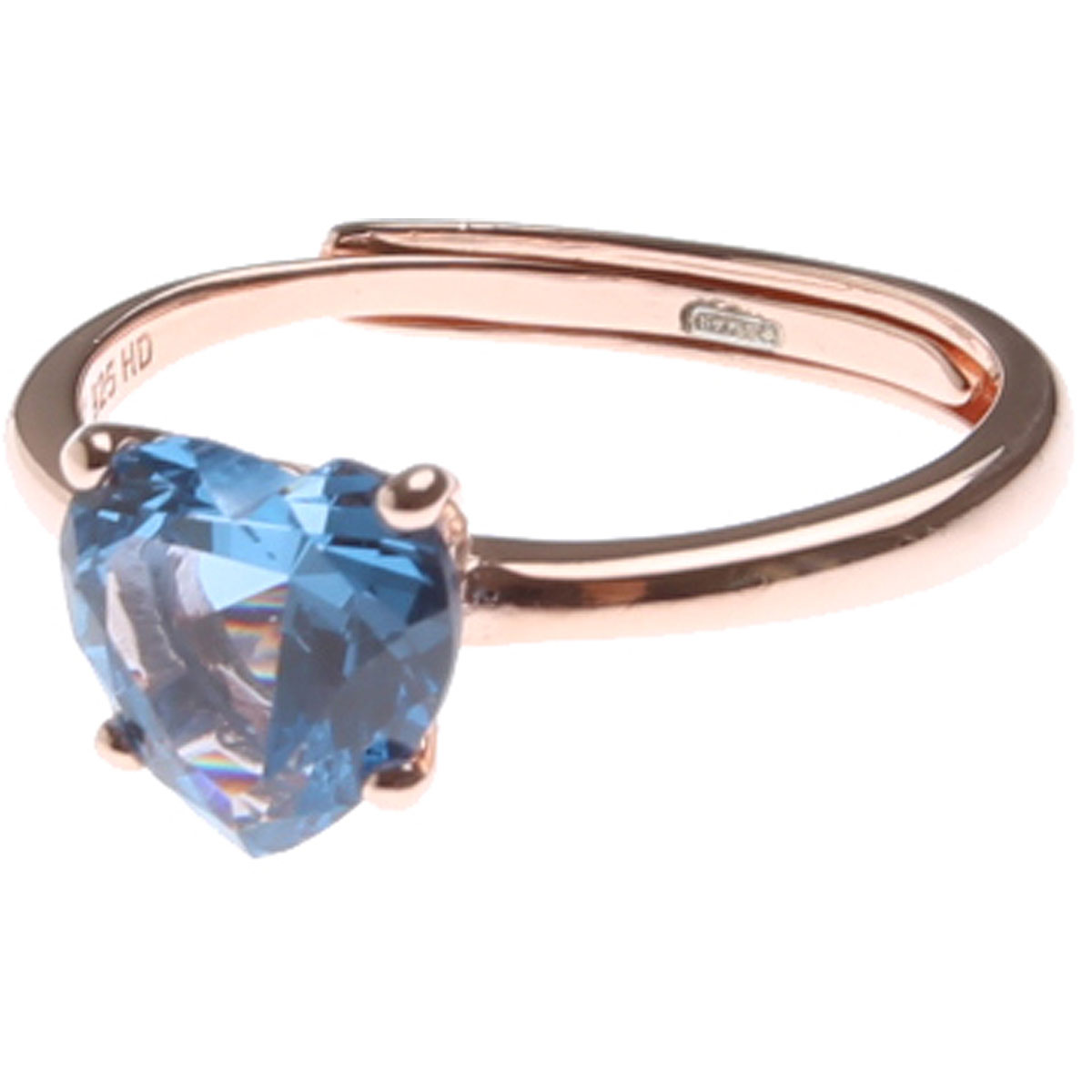 Francesca Angelone Ring for Women On Sale, Sky Blue, Silver 925, 2019