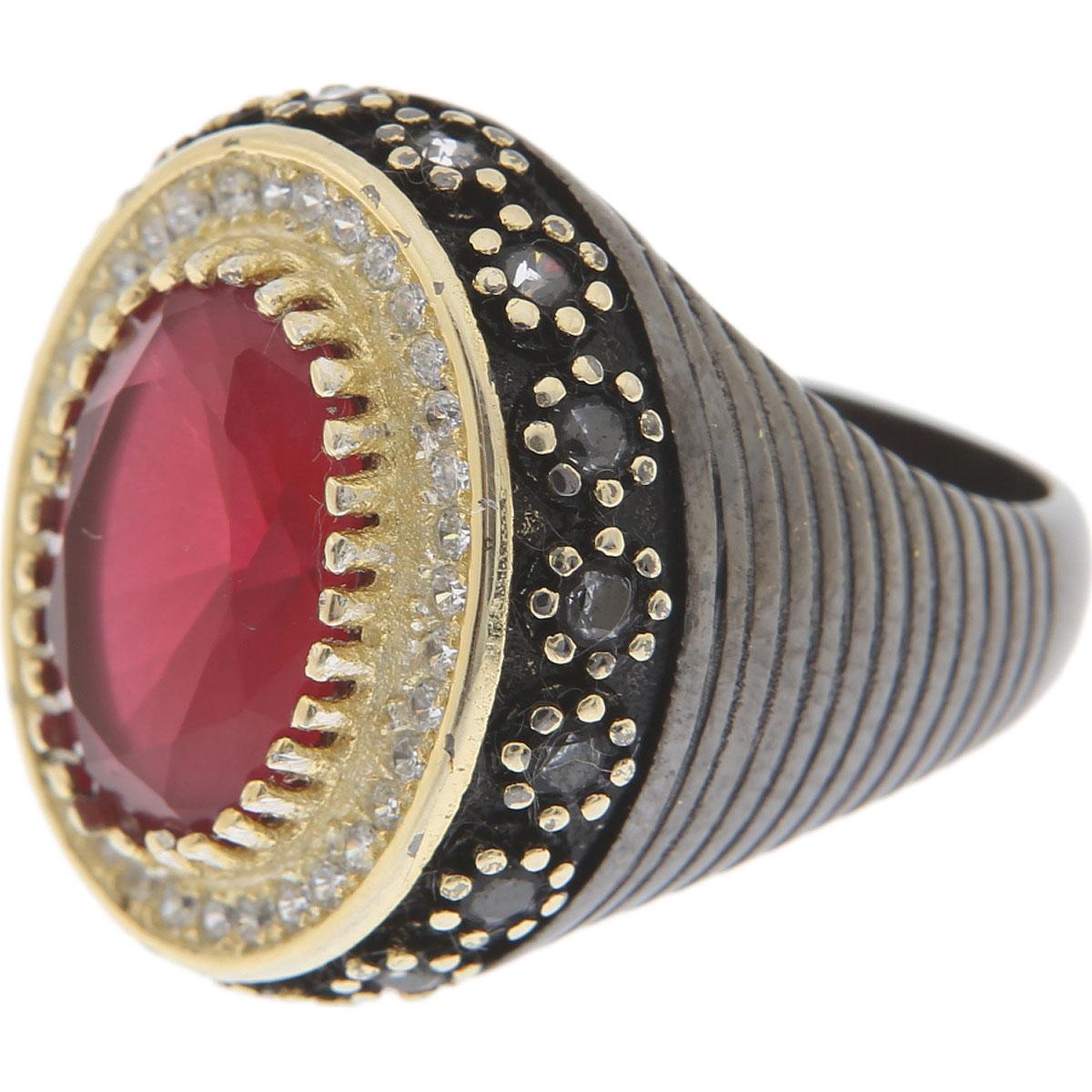 Francesca Angelone Ring for Women, Black, Silver 925, 2019