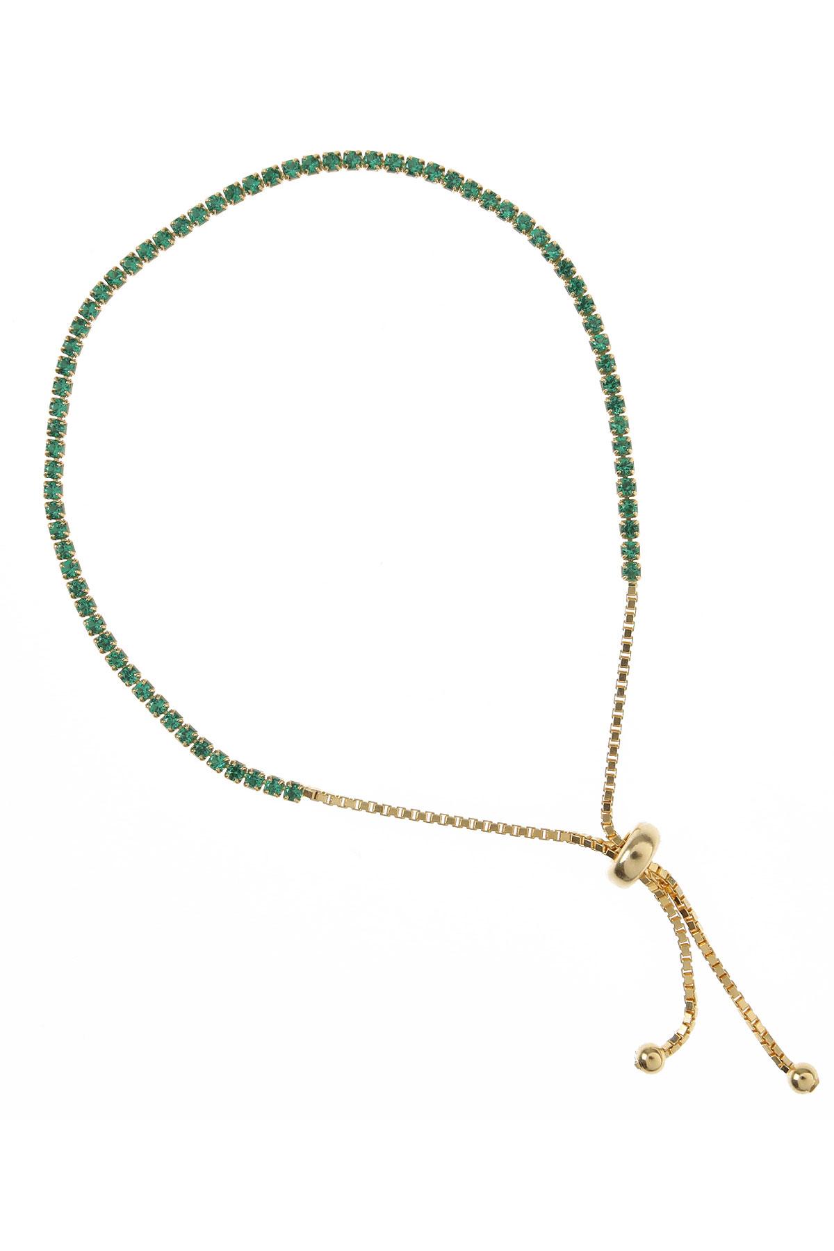 Francesca Angelone Bracelet for Women On Sale, Green, Silver 925, 2019