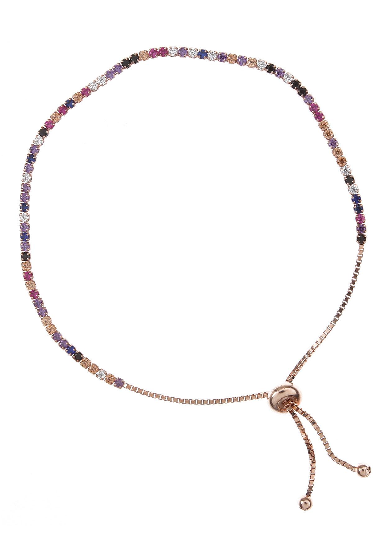 Francesca Angelone Bracelet for Women On Sale, Gold Pink, Silver 925, 2019