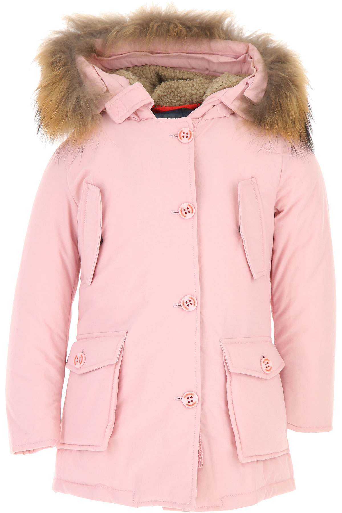 Image of Freedomday Girls Down Jacket for Kids, Puffer Ski Jacket, Pink, Cotton, 2017, 2Y 4Y 6Y