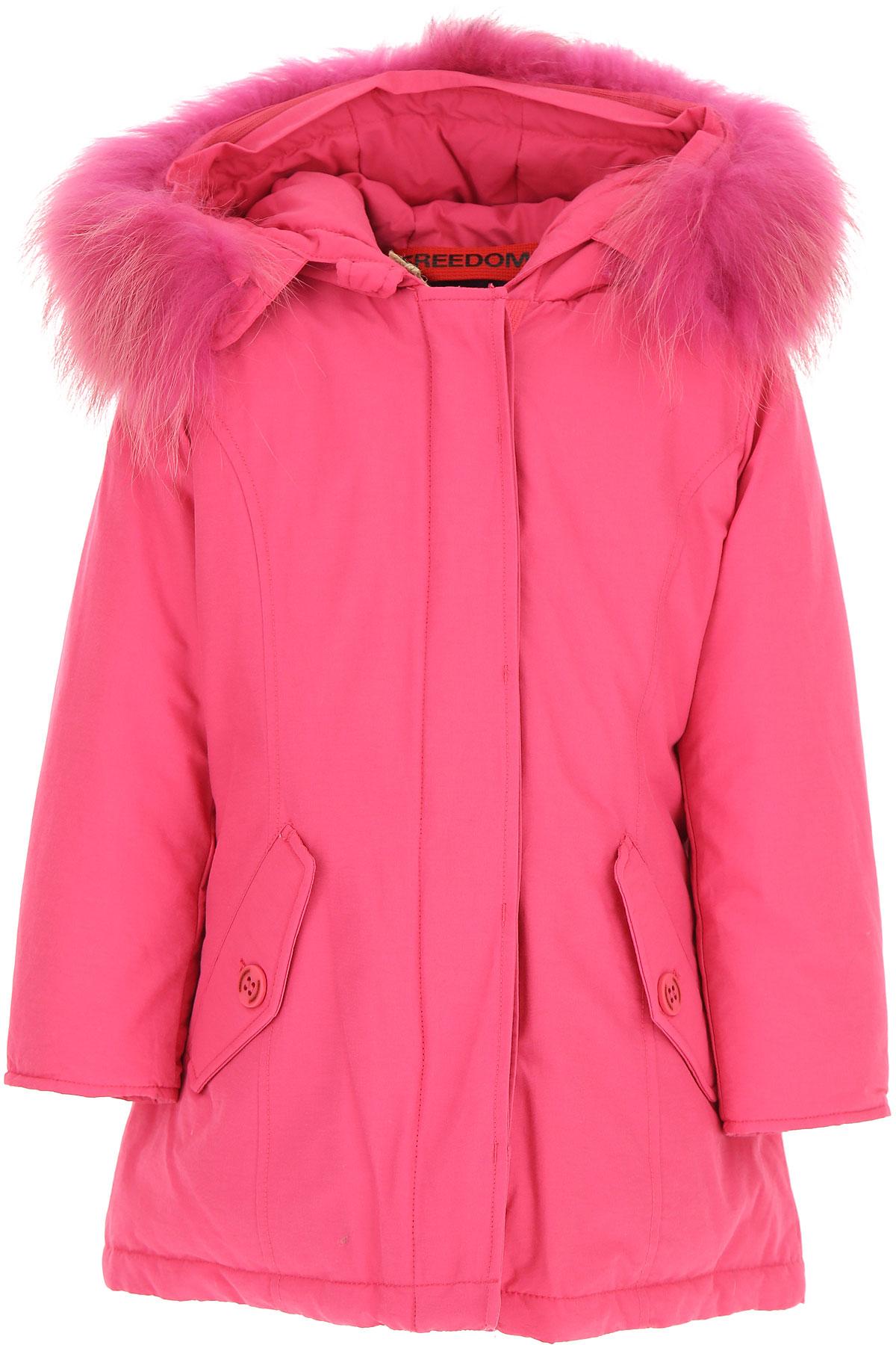 Image of Freedomday Girls Down Jacket for Kids, Puffer Ski Jacket, fuxia, Cotton, 2017, 10Y 2Y 4Y 6Y 8Y