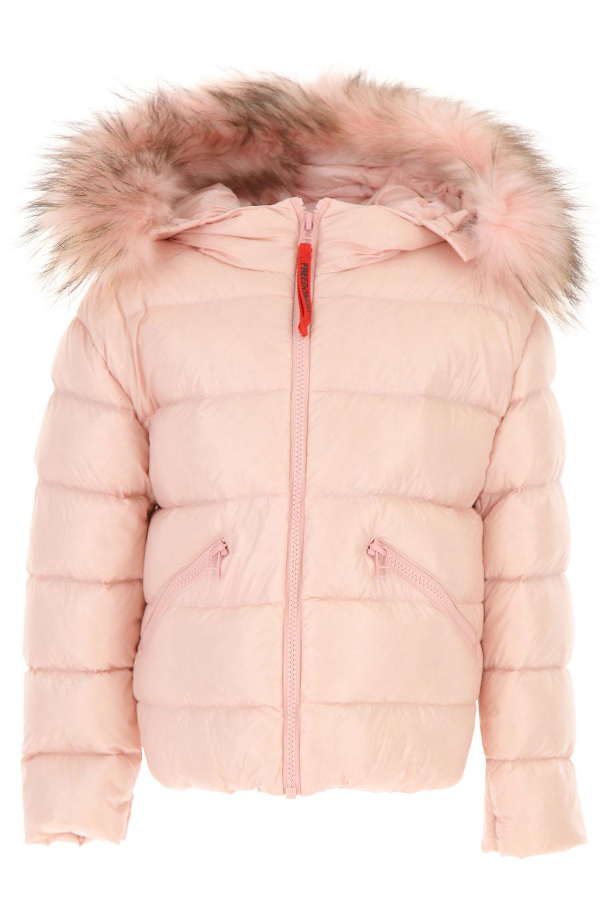 Image of Freedomday Girls Down Jacket for Kids, Puffer Ski Jacket, Pink, Nylon, 2017, 10Y 4Y 6Y 8Y