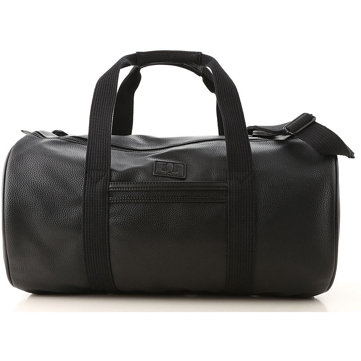Fred Perry Gym Bag Sports for Men On Sale, Black, polyurethane, 2019