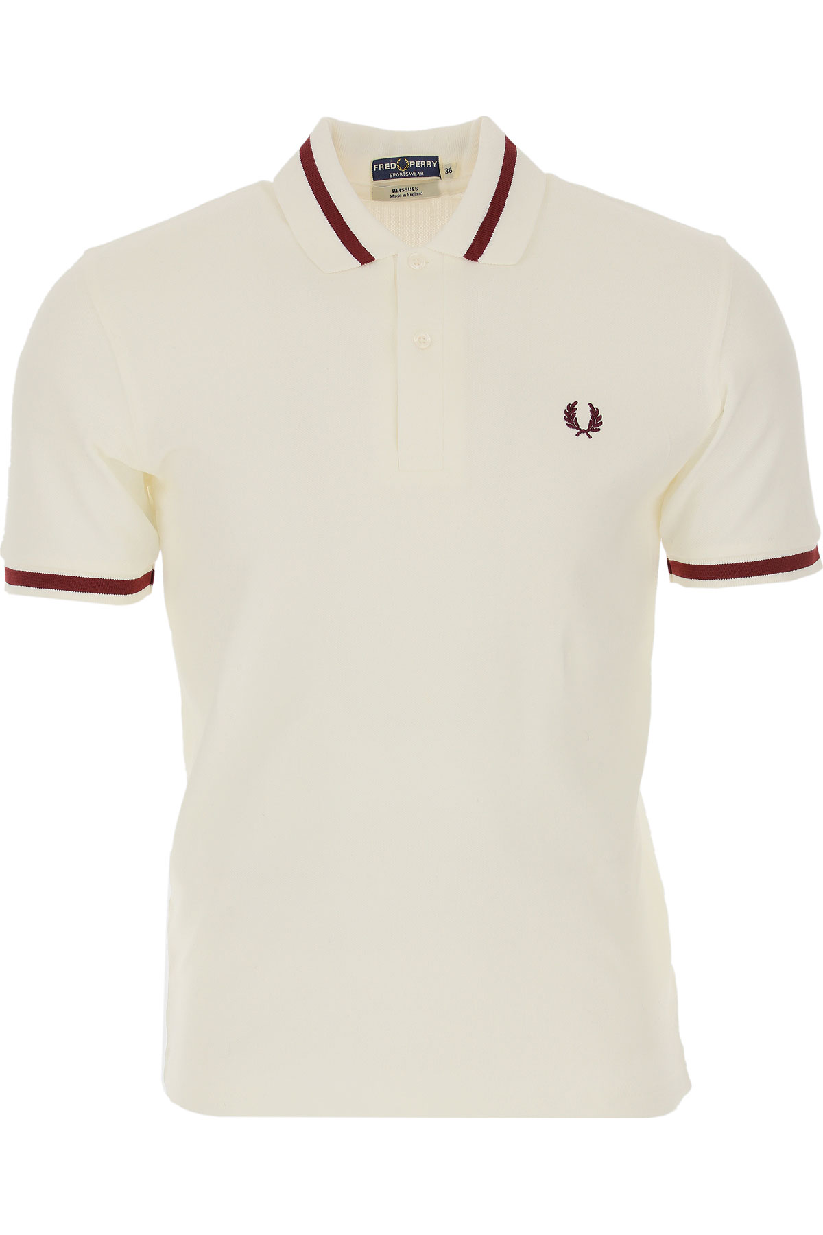 Fred Perry Mens Clothing On Sale, White, Cotton, 2019, L M S