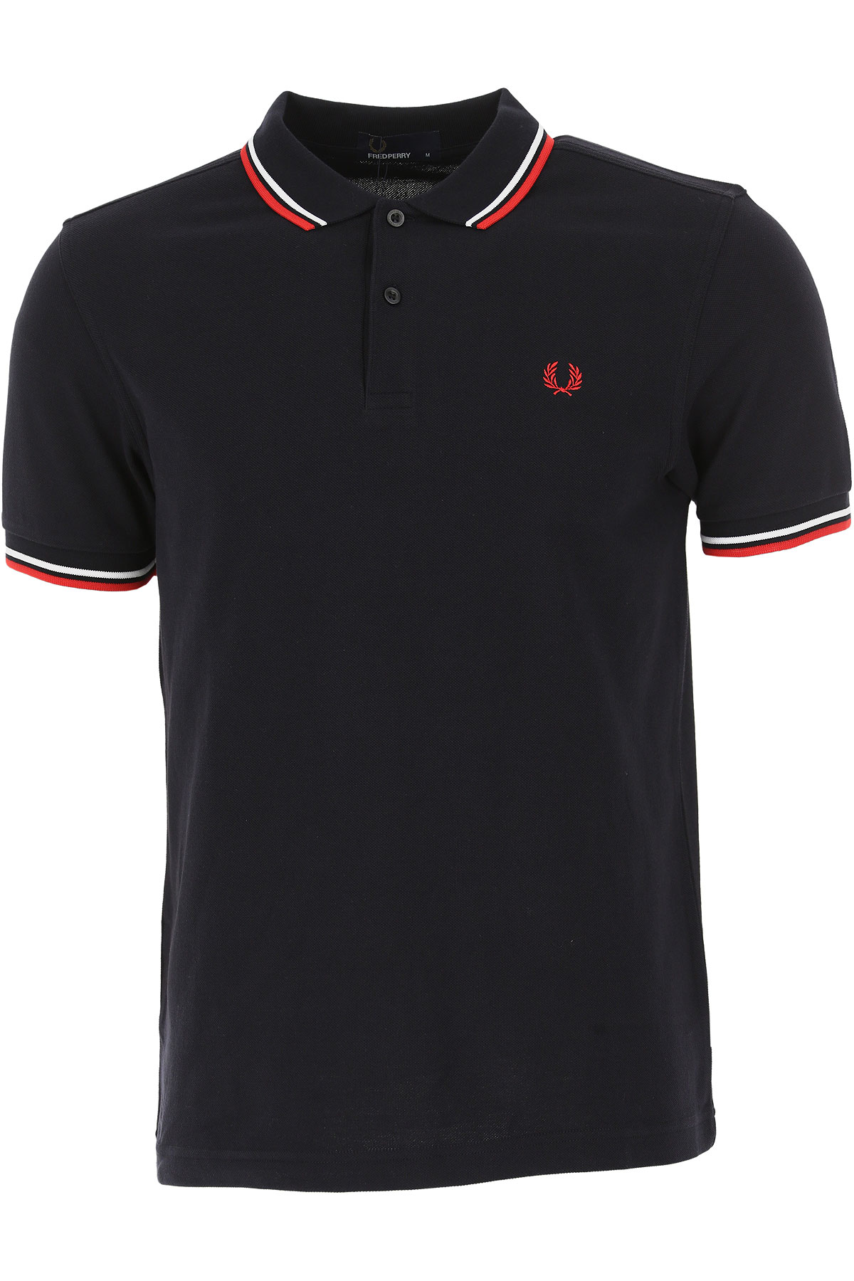 Fred Perry Polo Shirt for Men On Sale, Black, Cotton, 2019, L S XL XS XXL
