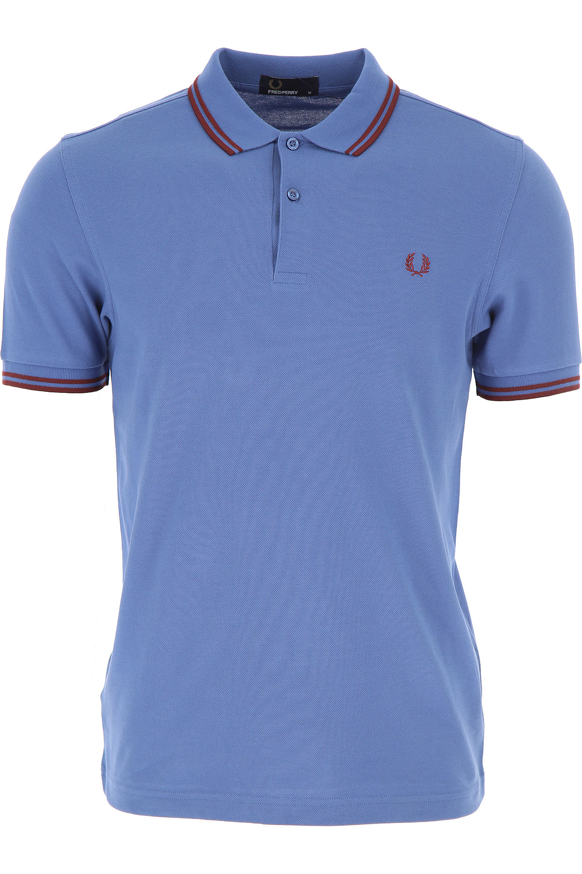 Image of Fred Perry Polo Shirt for Men, School Blue, Cotton, 2017, L M S XL