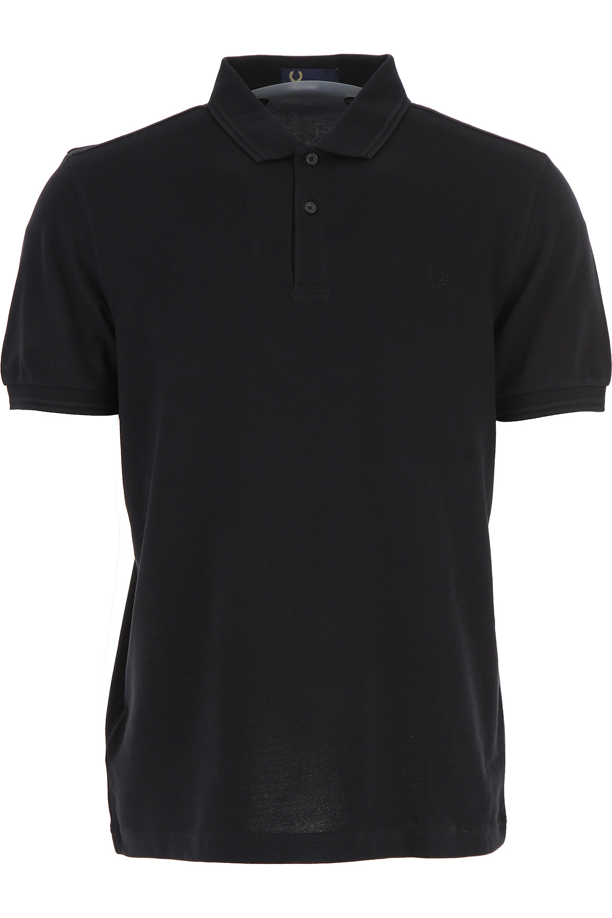 Image of Fred Perry Polo Shirt for Men, Black, Cotton, 2017, L M S XL