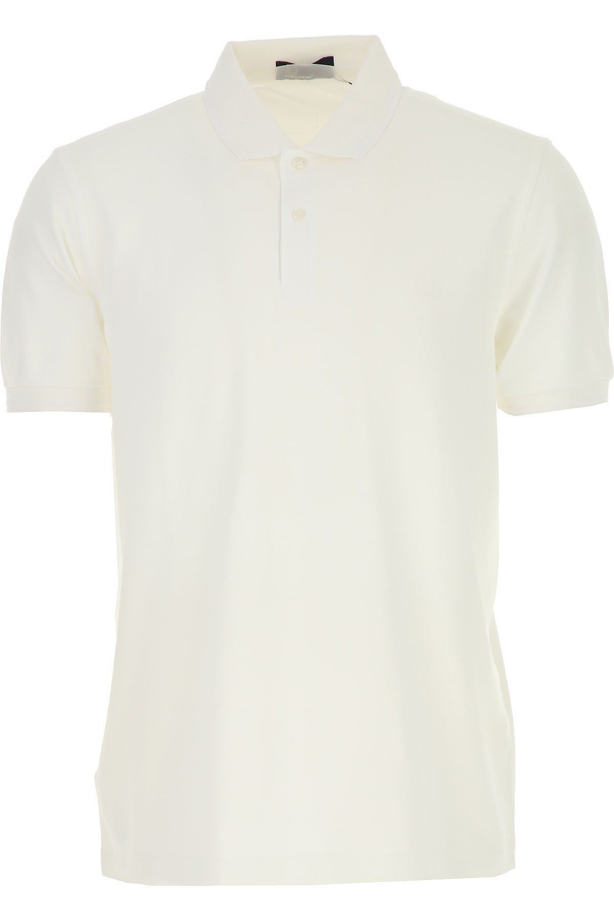 Image of Fred Perry Polo Shirt for Men, White, Cotton, 2017, L M S XL