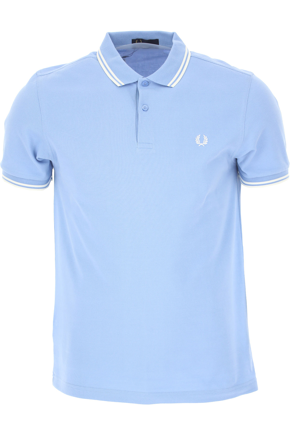 Fred Perry Polo Shirt for Men On Sale, Bright Light Sky Blue, Cotton, 2019, L S