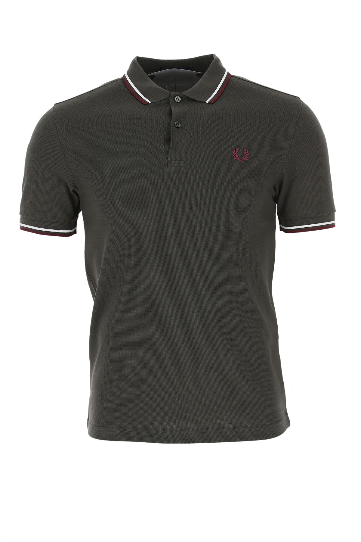 Fred Perry Polo Shirt for Men On Sale, Anthracite Grey, Cotton, 2019, L M S
