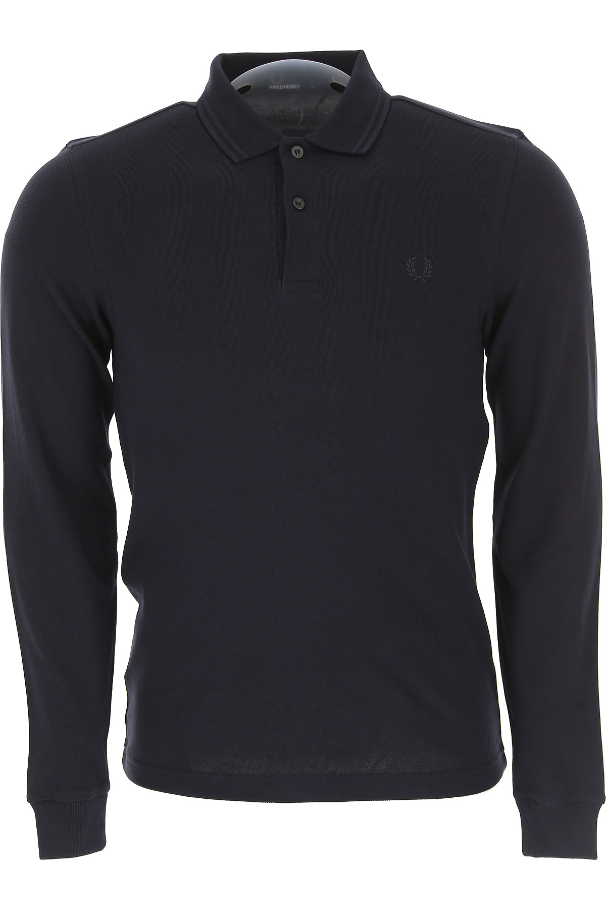 Image of Fred Perry Polo Shirt for Men, Navy Blue, Cotton, 2017, M S XL