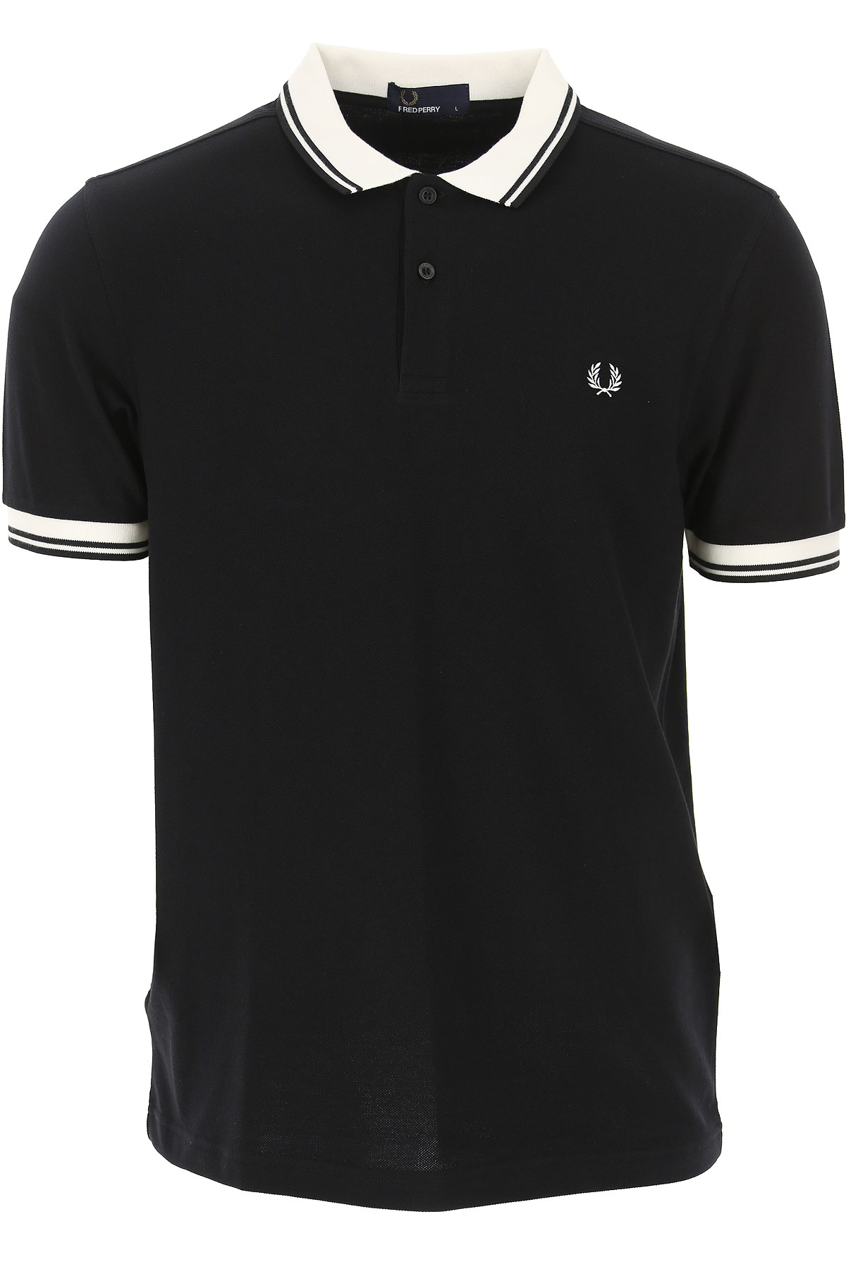 Fred Perry Polo Shirt for Men On Sale, Black, Cotton, 2019, M S