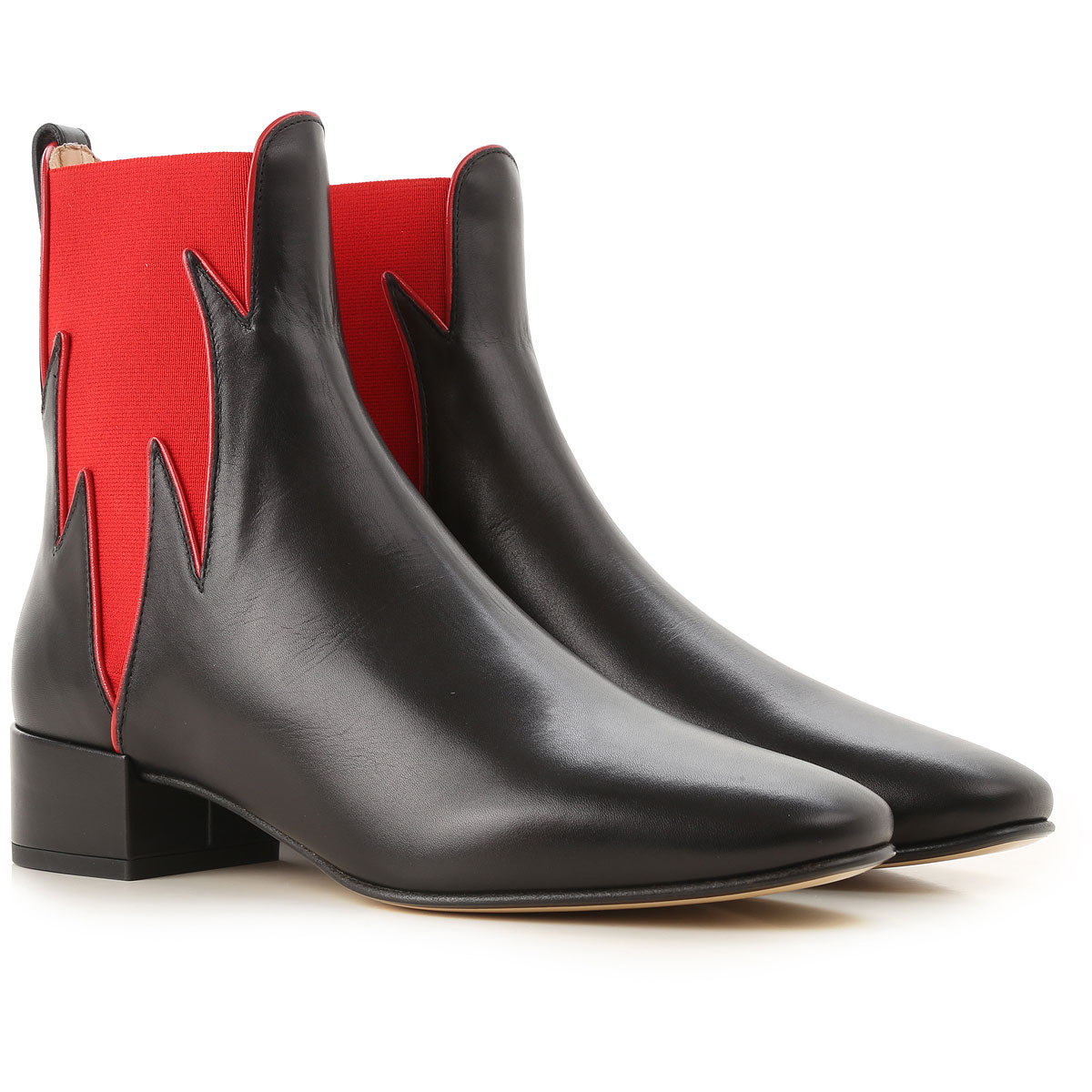 Image of Francesco Russo Boots for Women, Booties, Black, Leather, 2017, 10 7 8 8.5 9