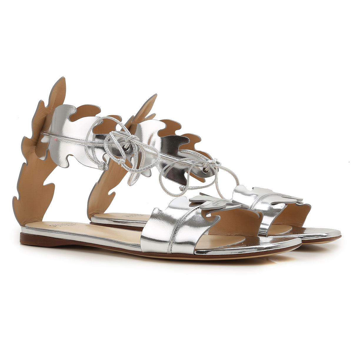 Francesco Russo Sandals for Women On Sale in Outlet, Silver, Leather, 2019, 36.5 38.5