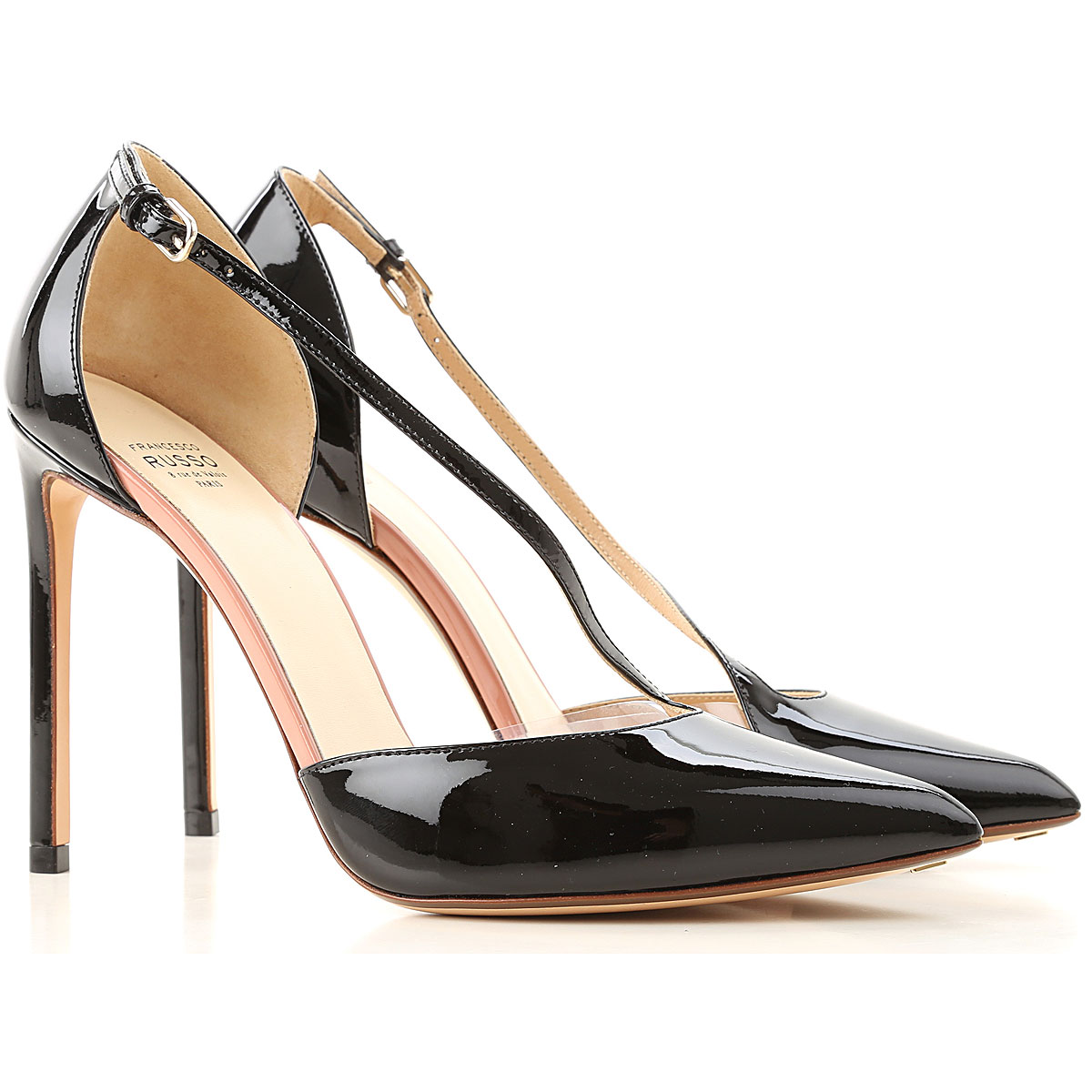 Francesco Russo Pumps & High Heels for Women On Sale in Outlet, Black, Patent Leather, 2019, 10 6 6.5 9