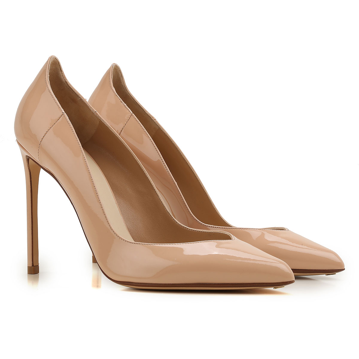 Image of Francesco Russo Pumps & High Heels for Women On Sale, skin, Patent Leather, 2017, 7 9