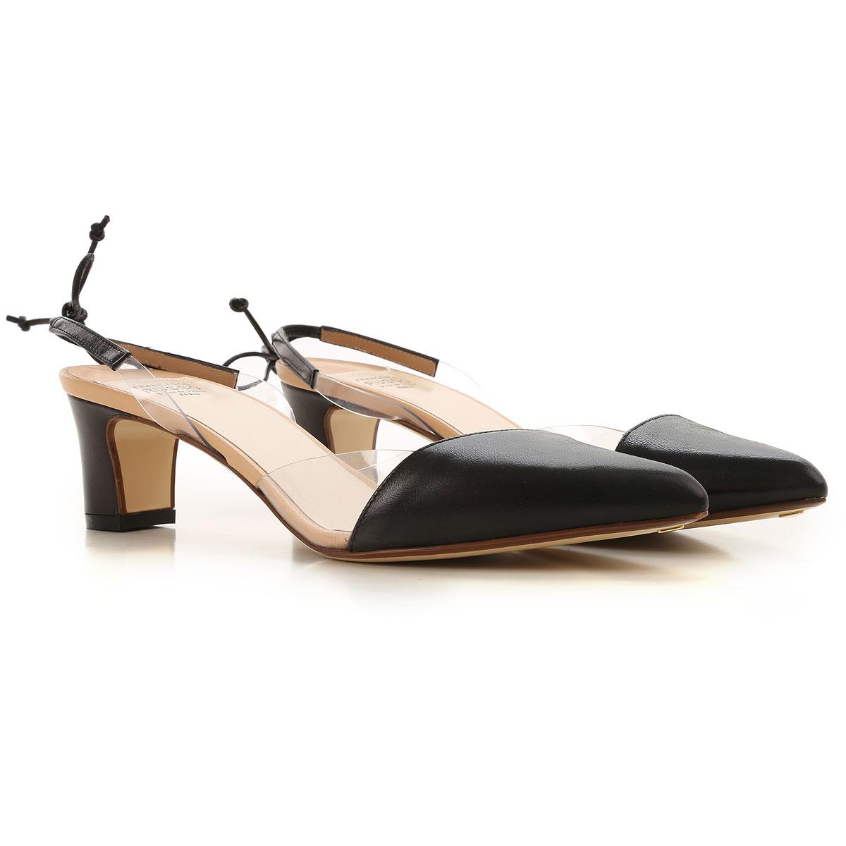 Francesco Russo Pumps & High Heels for Women On Sale in Outlet, Black, Leather, 2019, 6.5 8